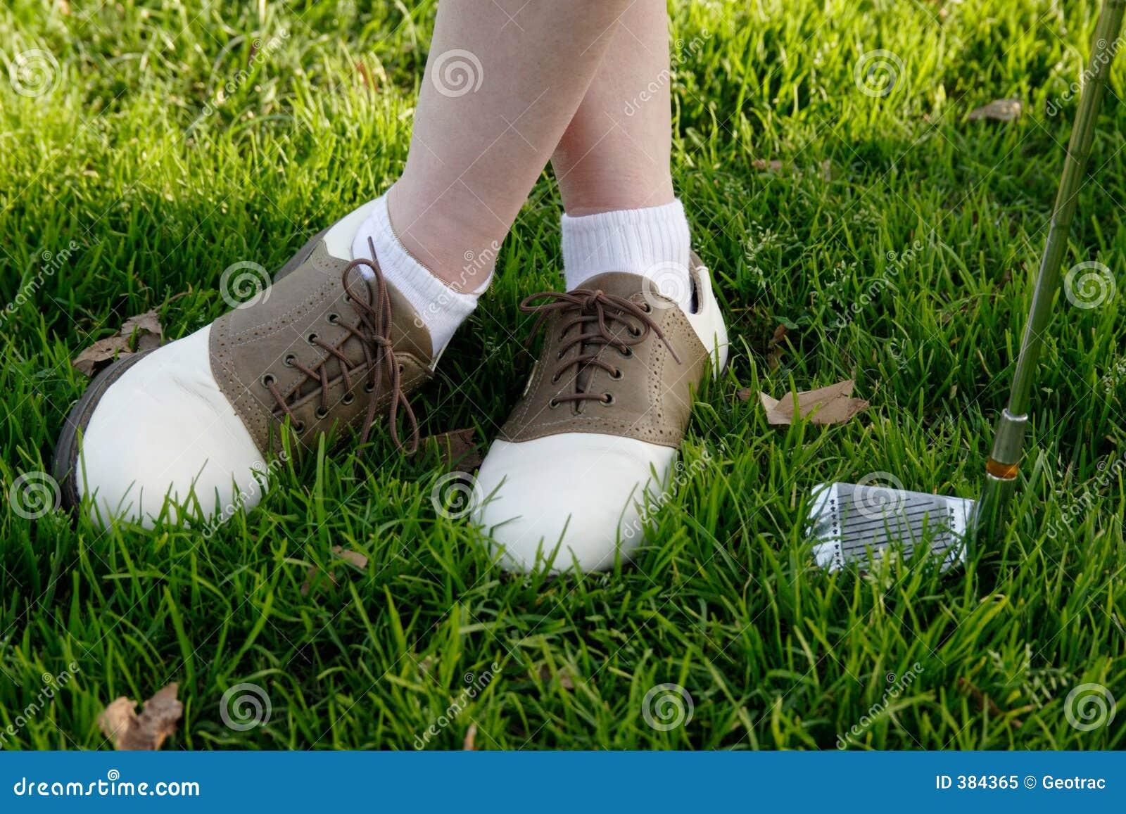 De schoenen van het golf