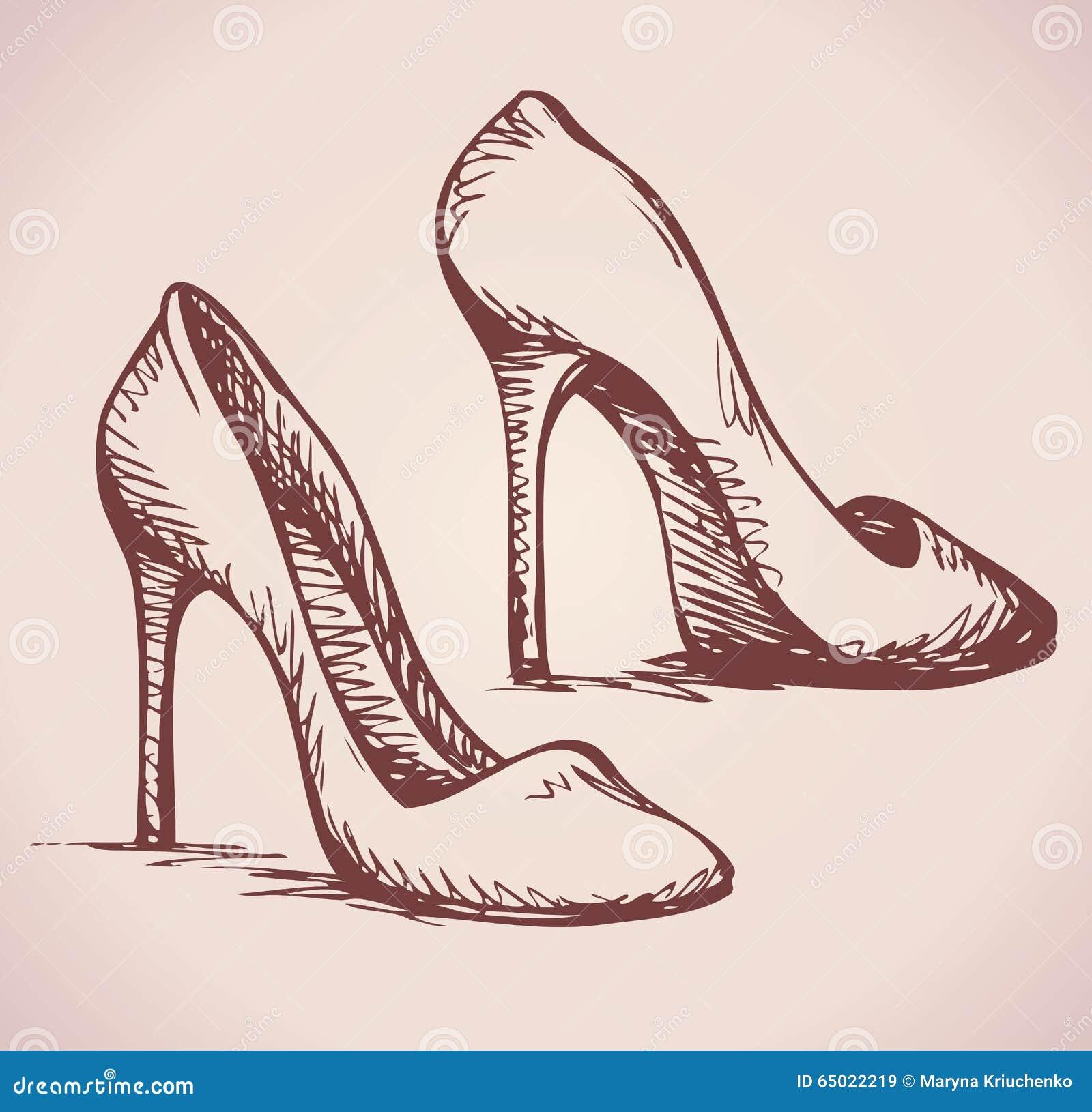 de schoenen van vrouwen vector tekening vector illustratie