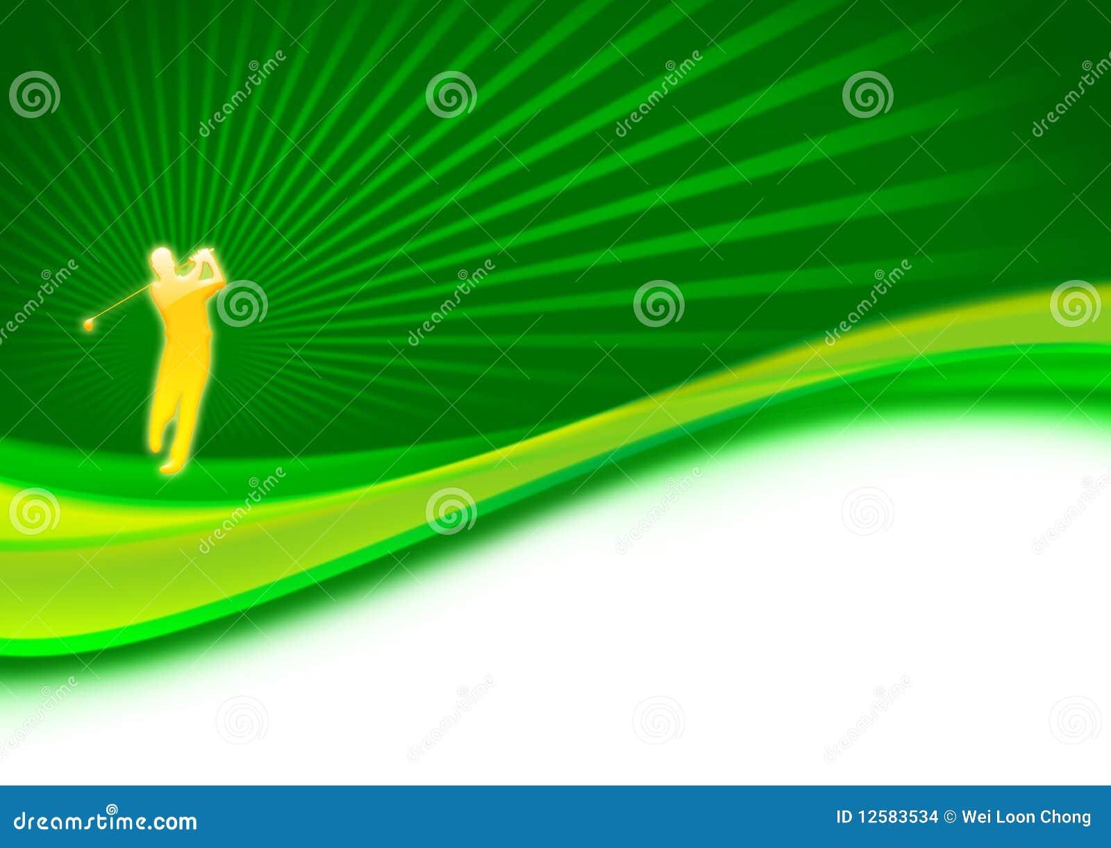 De schommeling van de golfspeler op green