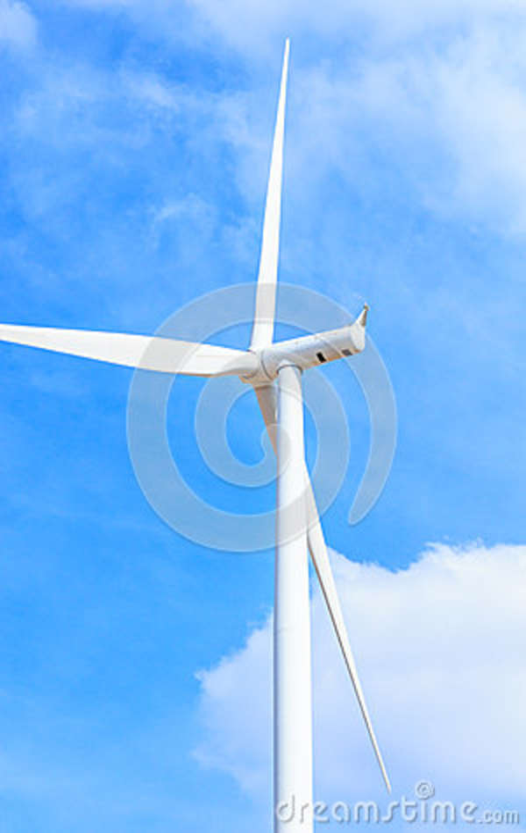 De schone energieconcept van de windturbine