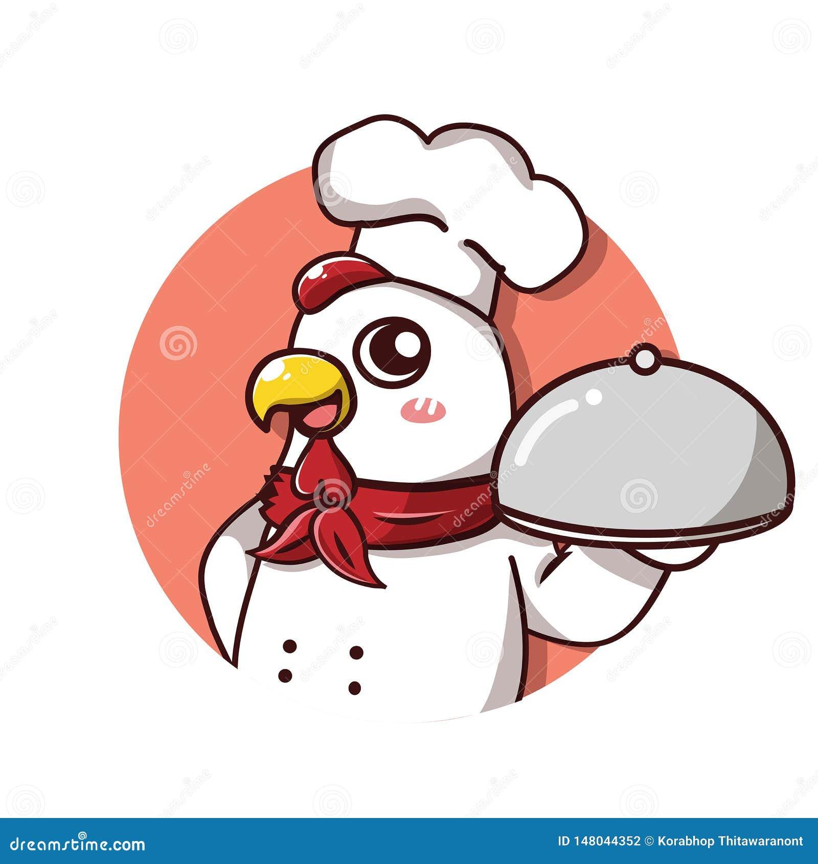 De schotel van de de glimlachgreep van de chef-kokkip