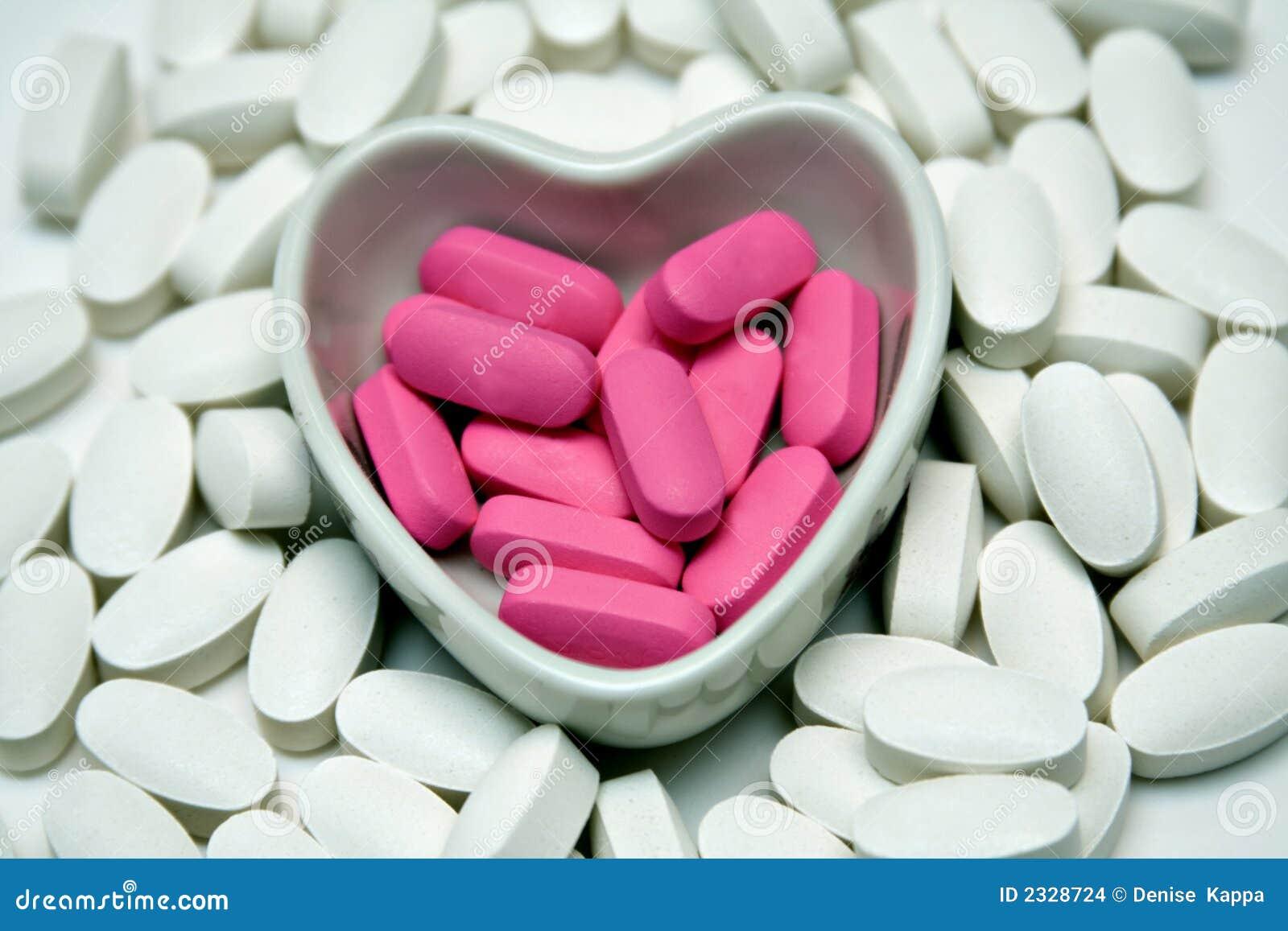 De schotel van het hart van Pillen
