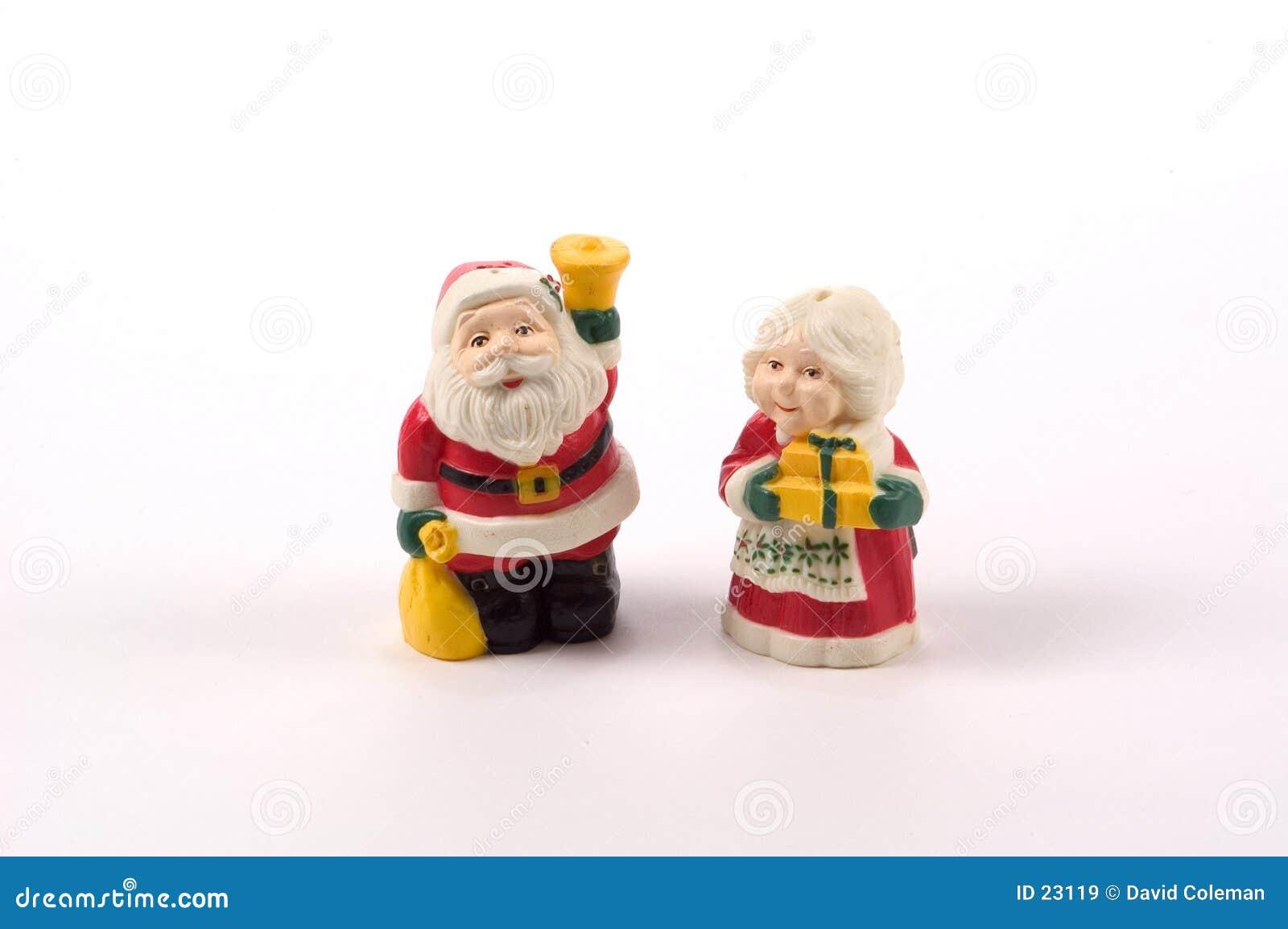 De Schudbekers van het Zout en van de Peper van Kerstmis