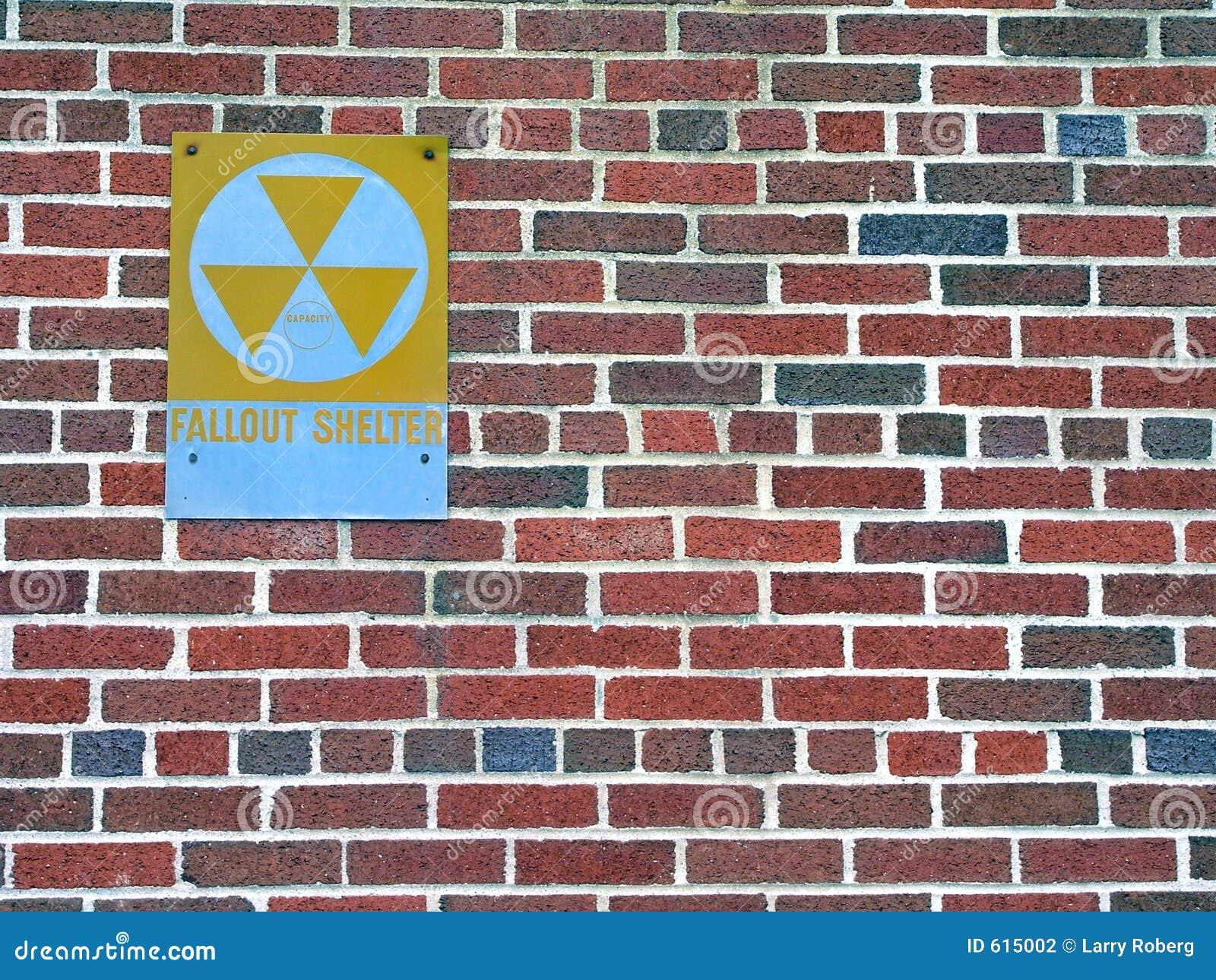 De schuilplaatsteken van de radioactieve neerslag