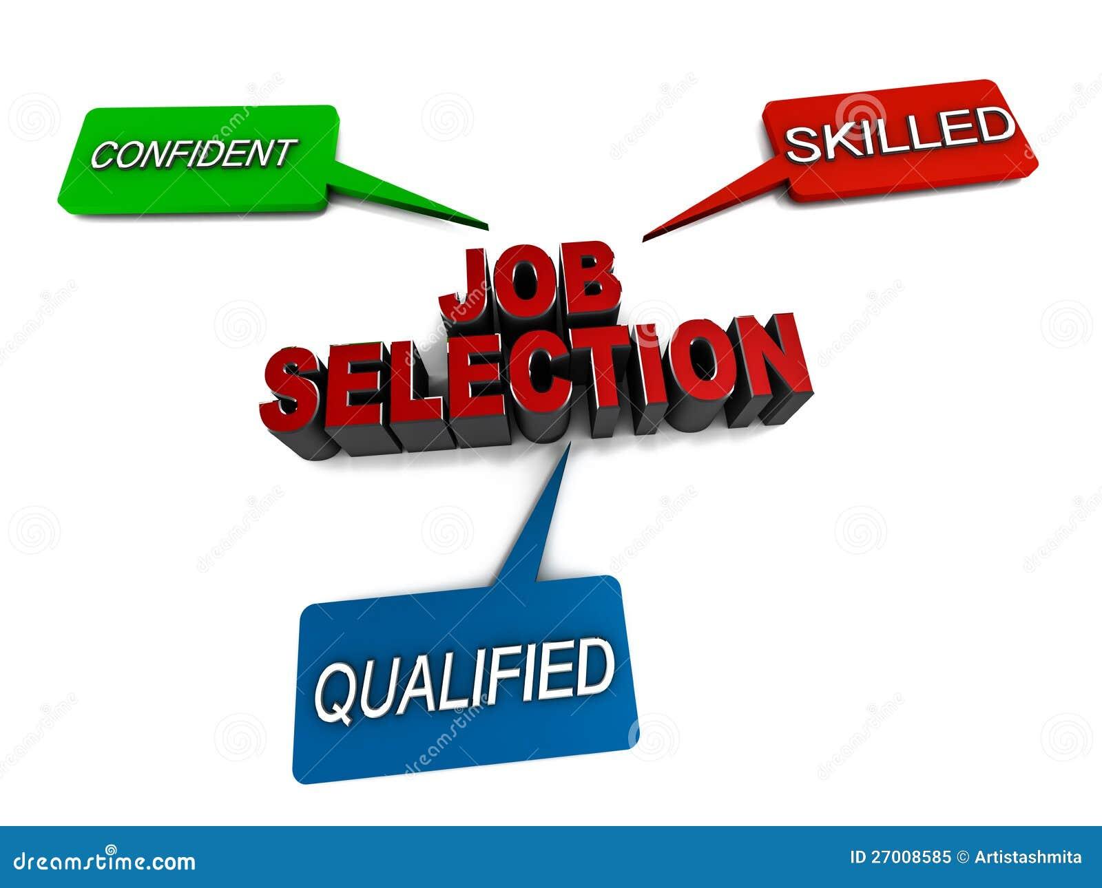 De selectie van de baan