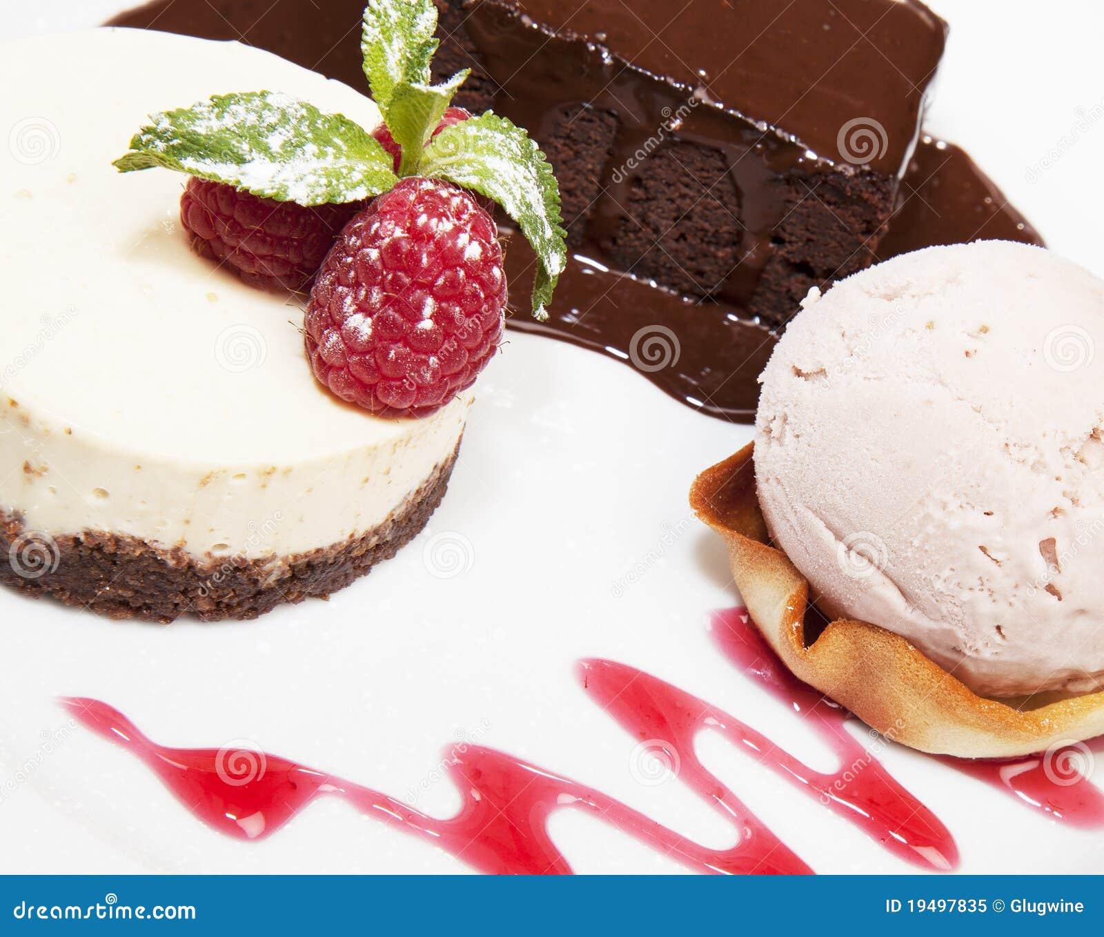 De Selectie van het dessert