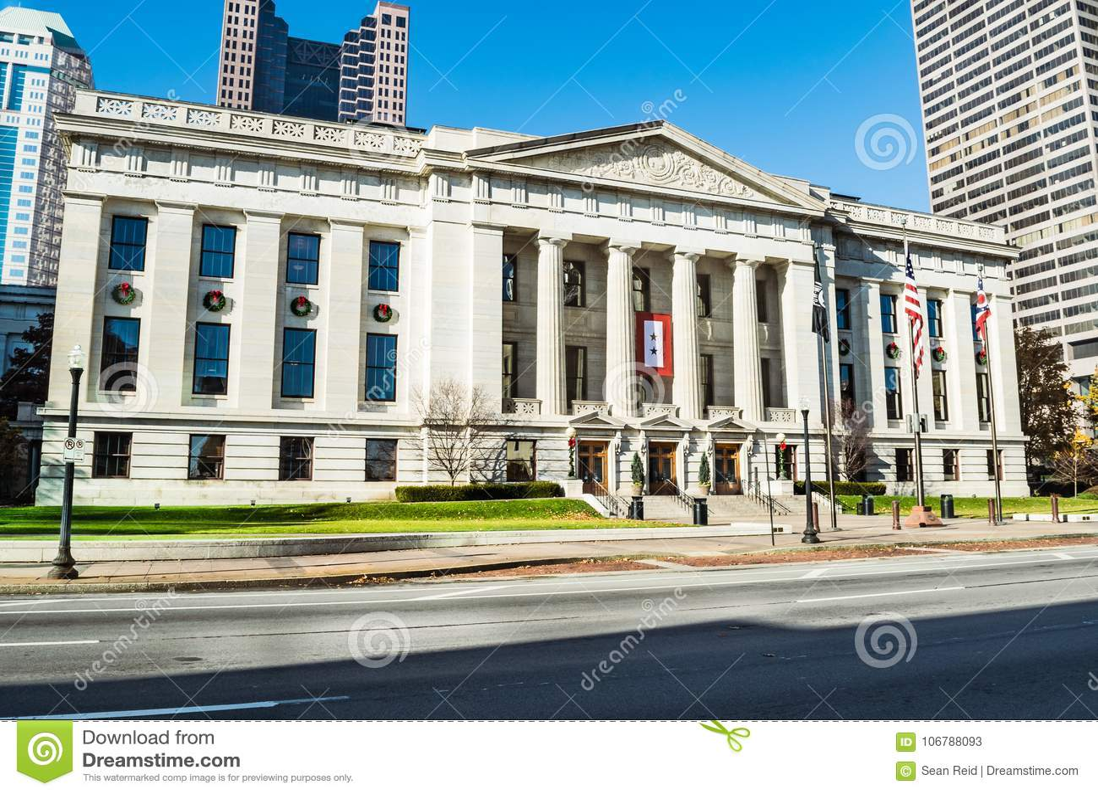 De Senaatsingang van Ohio Statehouse