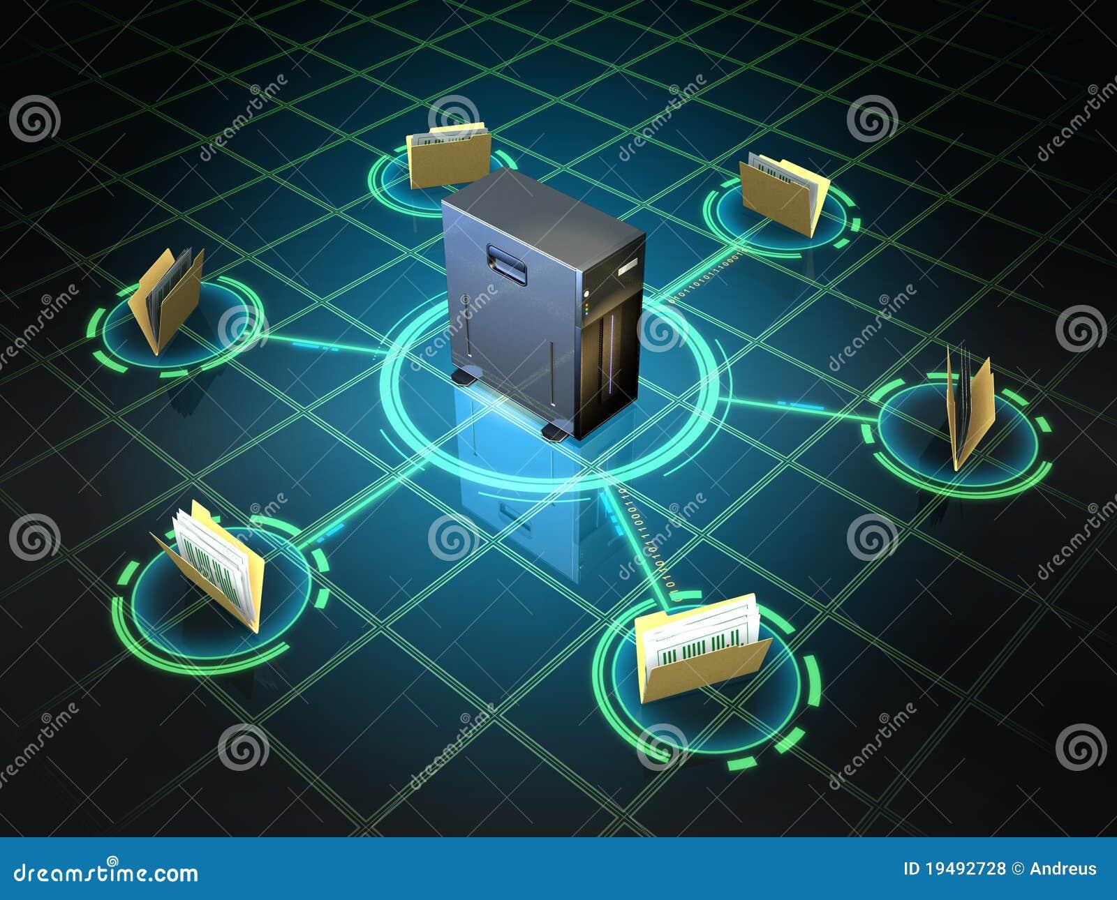De server van het dossier