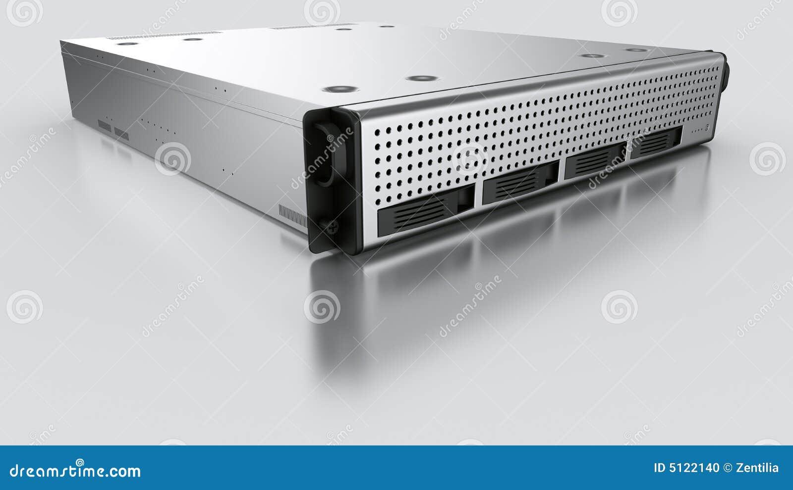De server van het rek