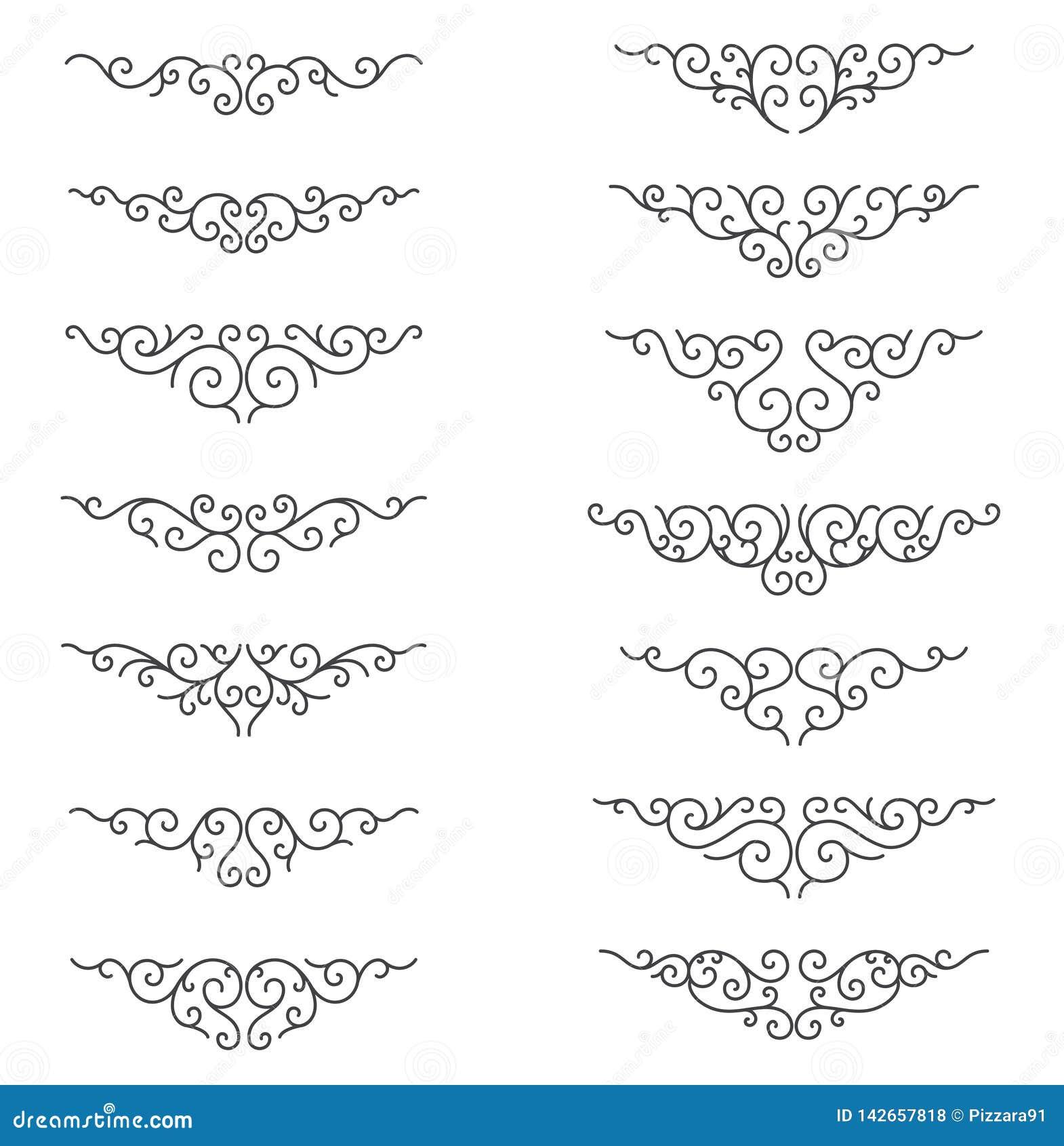 De sier lijnen van de Regel Decoratieve Vectorontwerpelementen - Vector Grens en verdeler