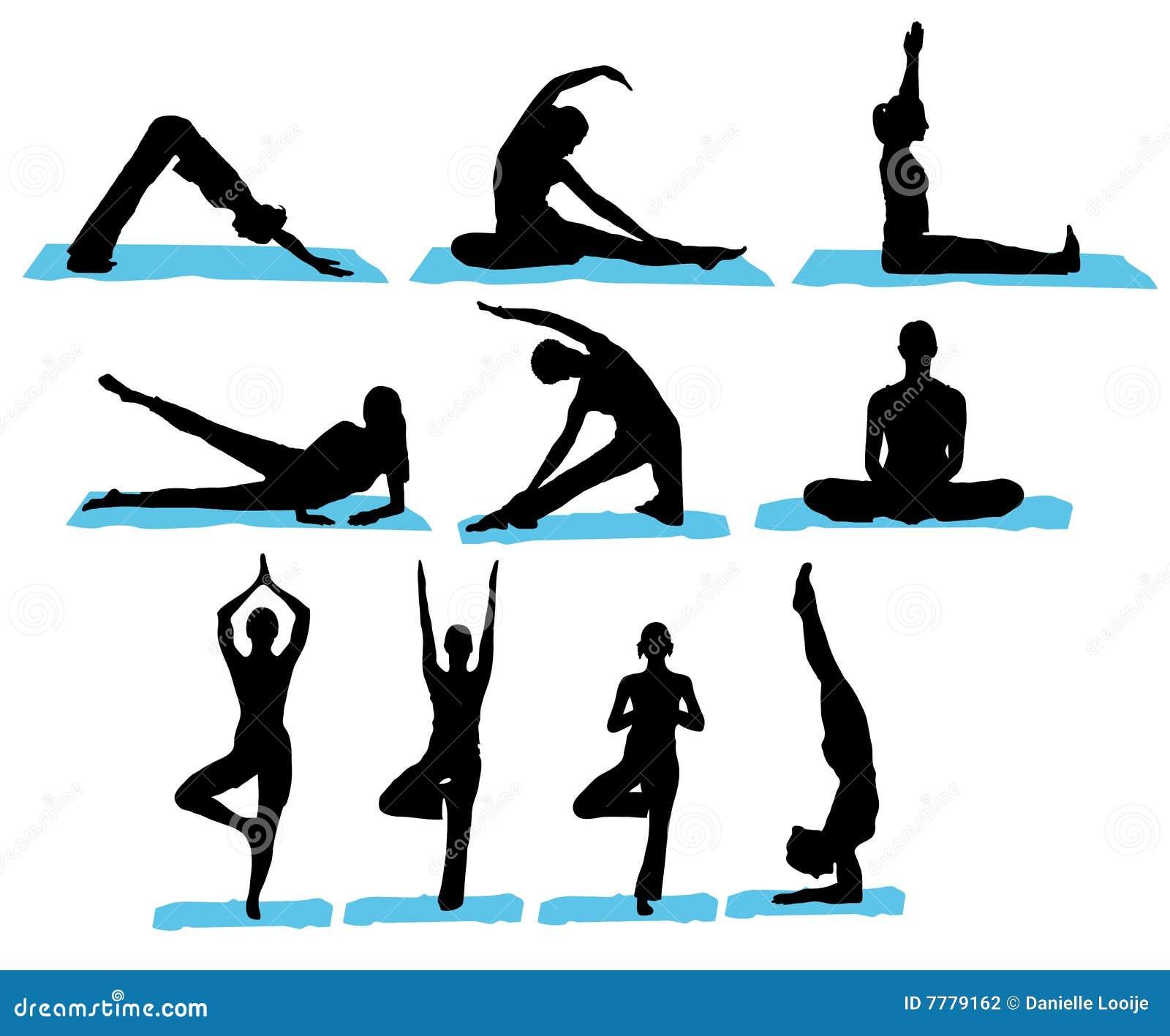 De Silhouetten van de yoga
