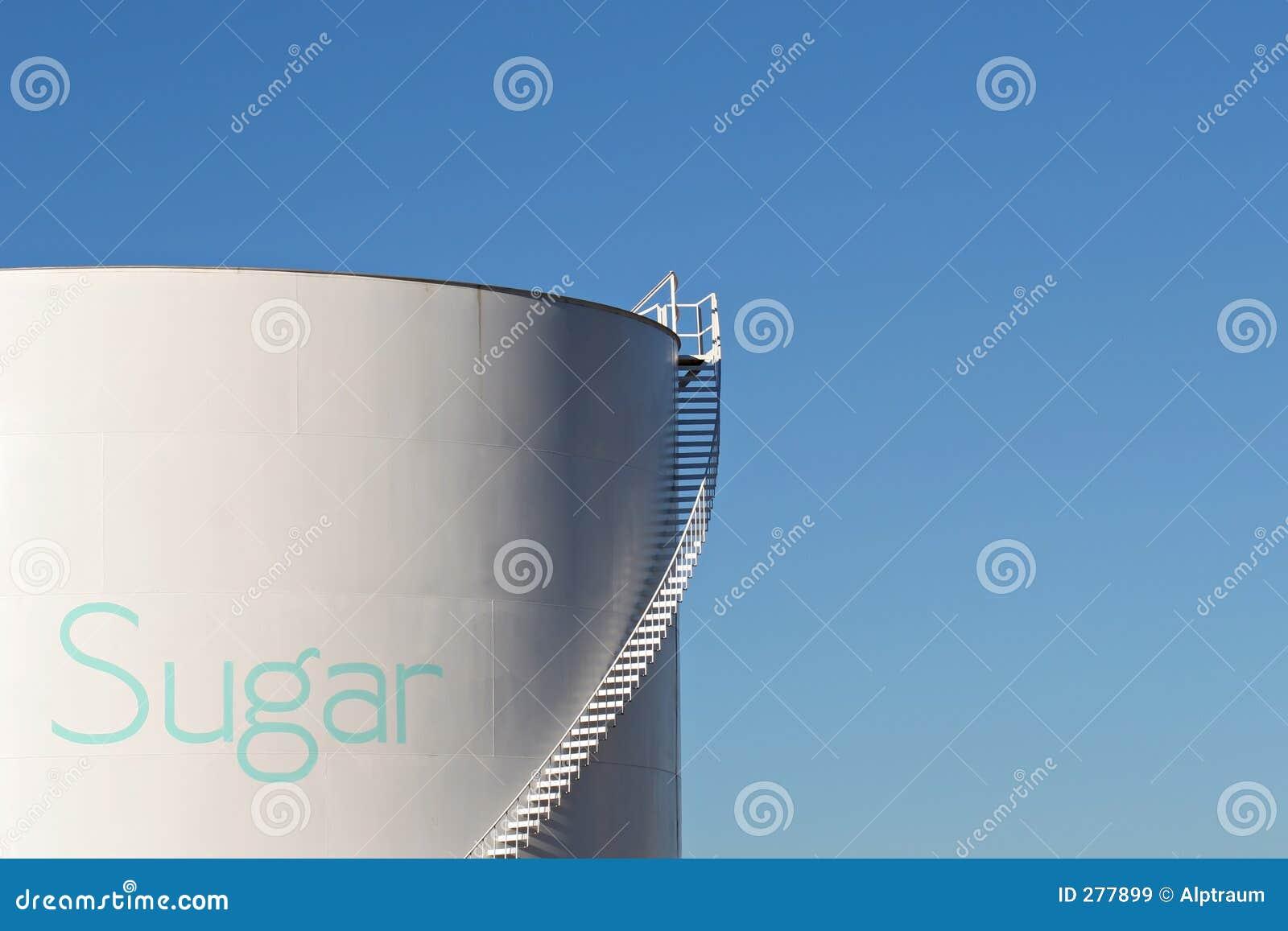 De silo van de suiker