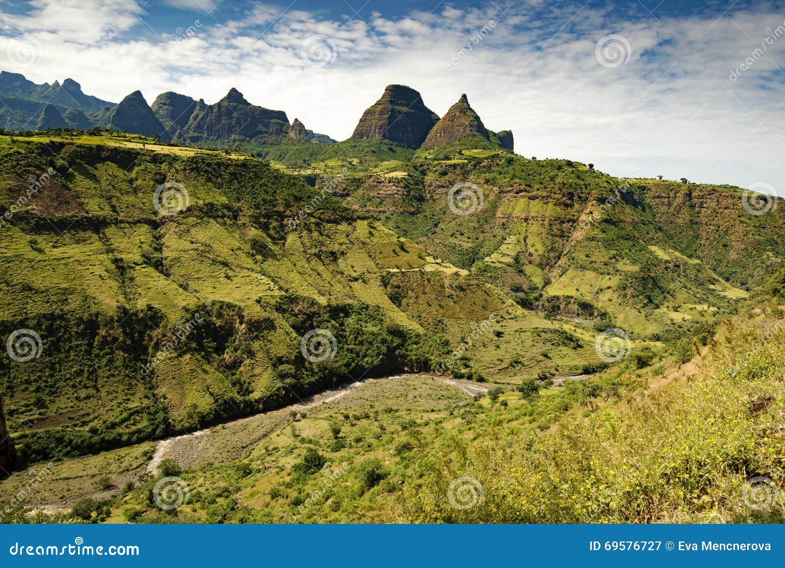 De Simien bergen, Etiopien