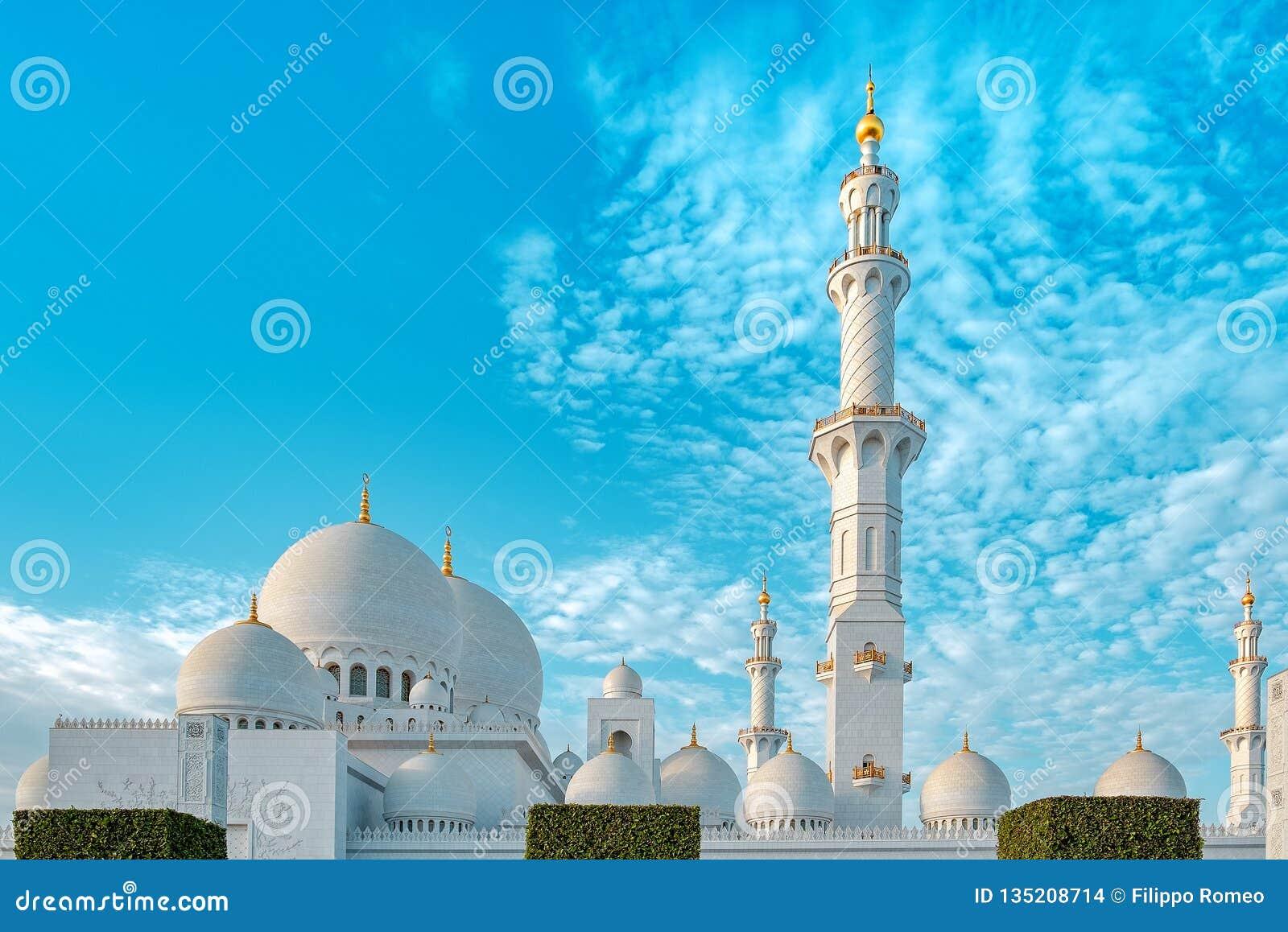 De sjeik zayed moskeebuitenkant
