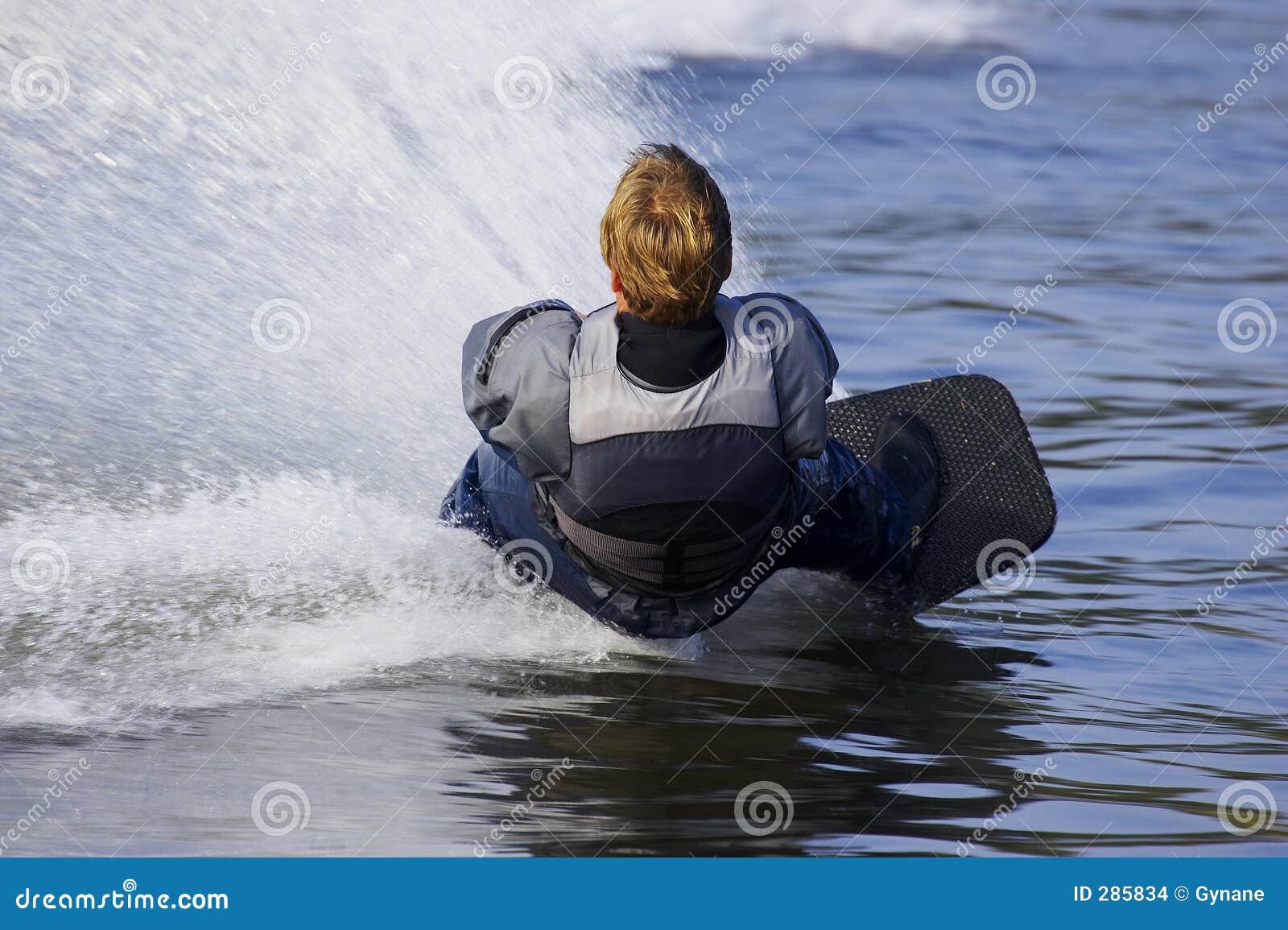 De skiër van het water