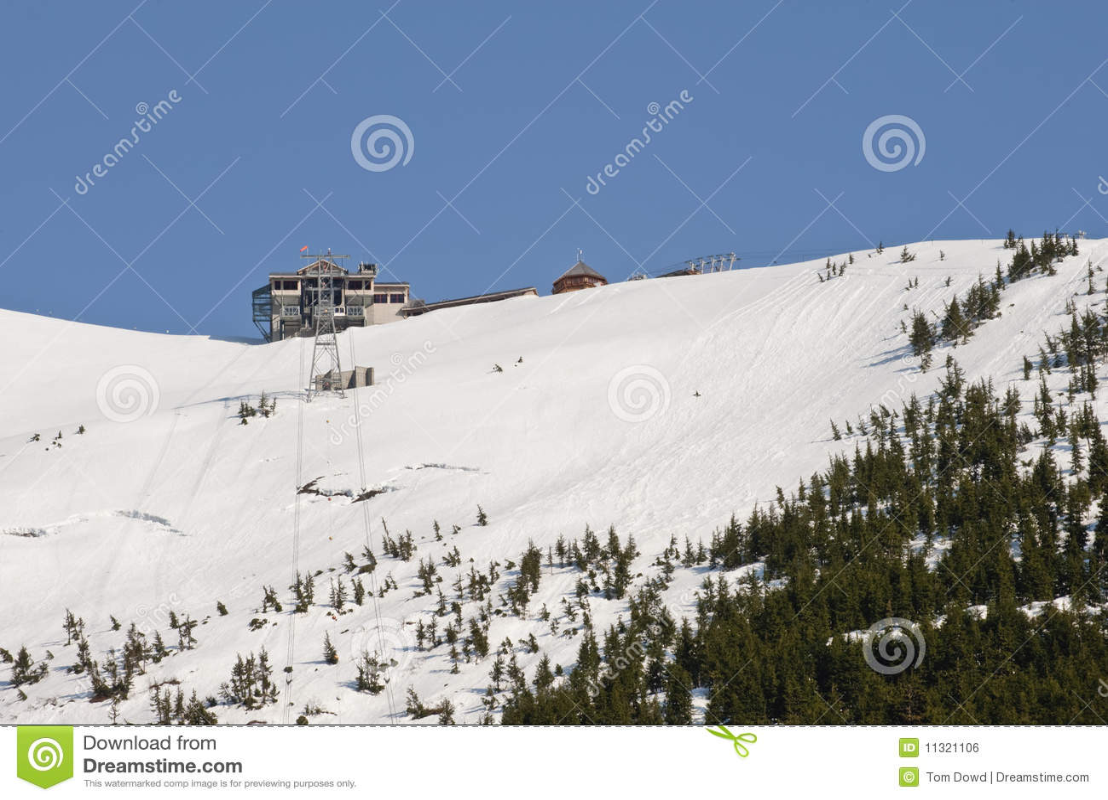 De skitoevlucht van Alyeska