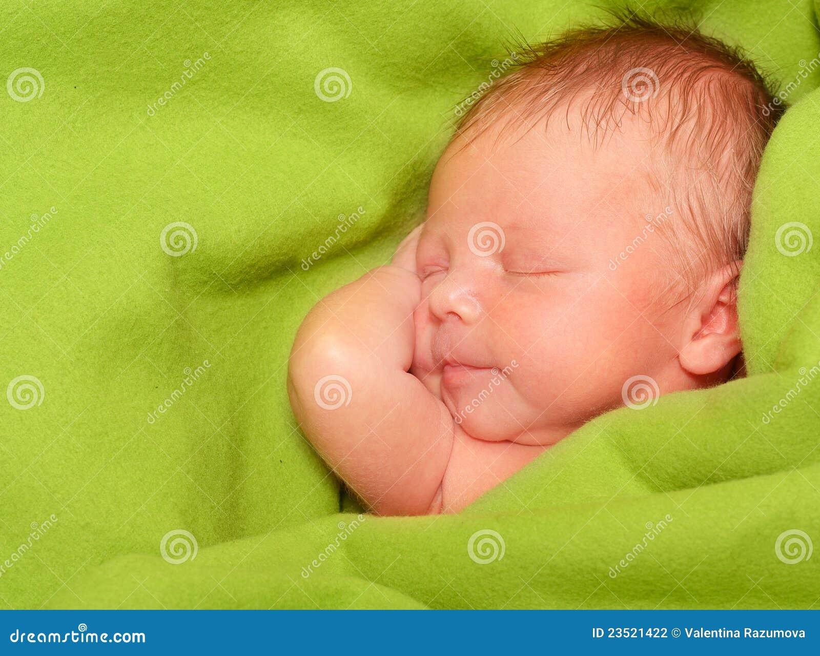 De slaap pasgeboren jongen van de baby stock foto afbeelding 23521422 - Baby boy versiering van de zaal ...