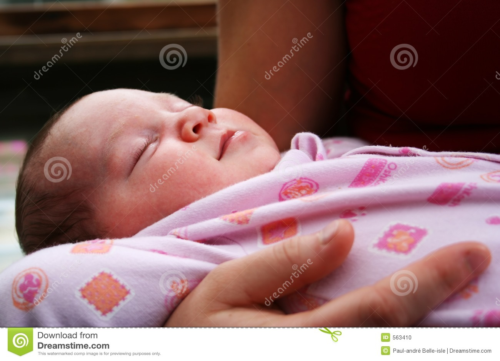 De slaap van de baby