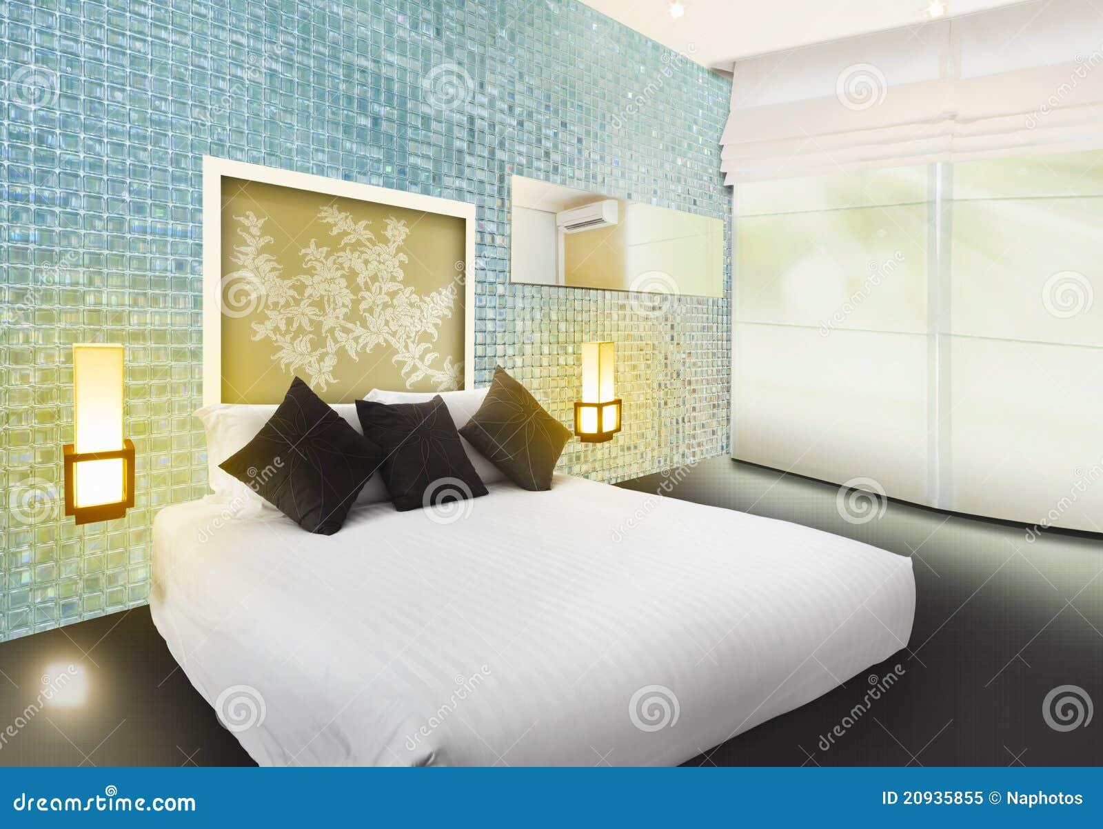De slaapkamer binnenlands ontwerp van de luxe royalty vrije stock ...