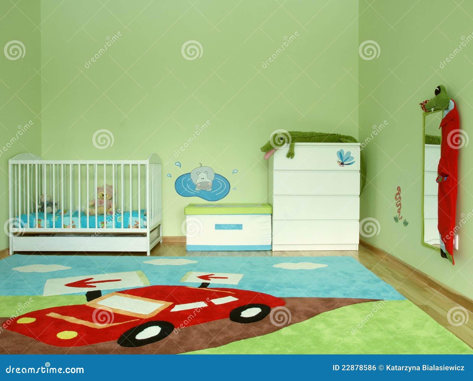 De slaapkamer van de baby