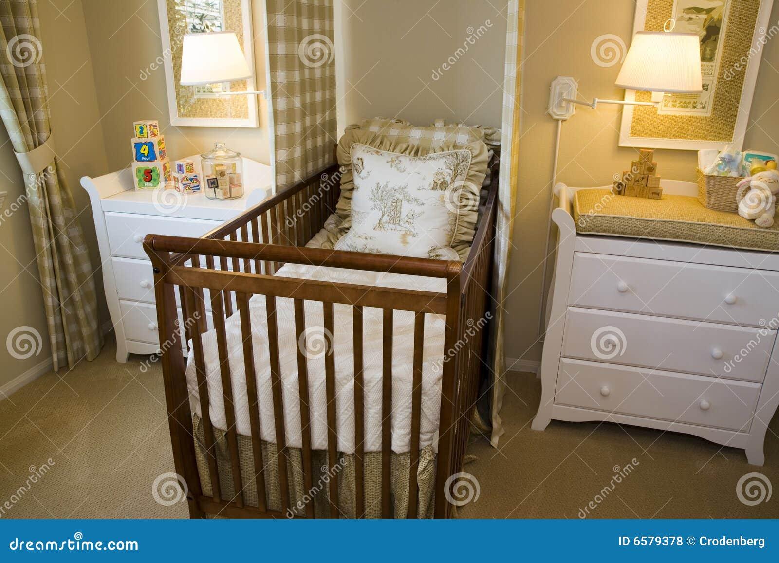 Slaapkamer Voor Baby.De Slaapkamer Van De Baby Stock Foto Afbeelding Bestaande Uit