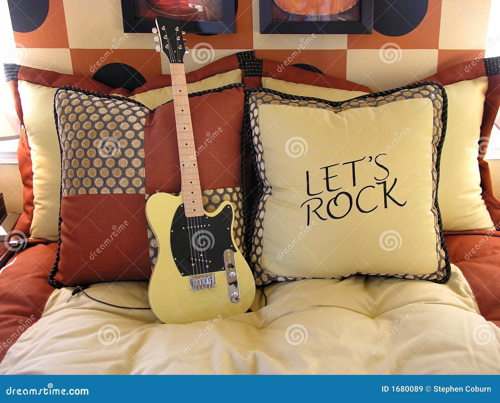 de slaapkamer van de muziek royalty-vrije stock afbeeldingen, Deco ideeën