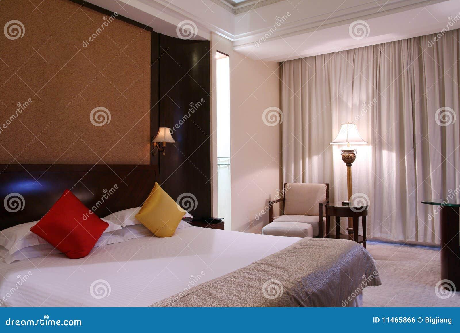 De Slaapkamer Van Het Hotel Royalty-vrije Stock Afbeelding ...