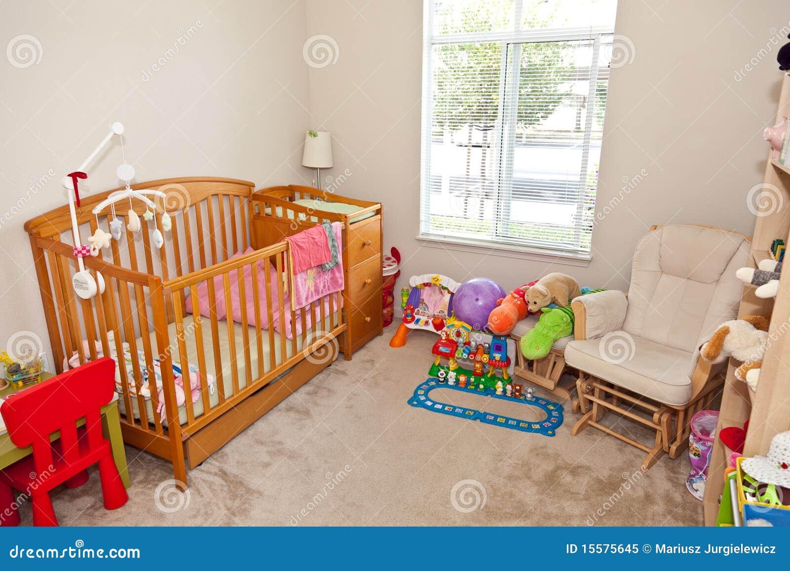 De slaapkamer van het kind royalty vrije stock foto afbeelding 15575645 - Baby meisje slaapkamer foto ...