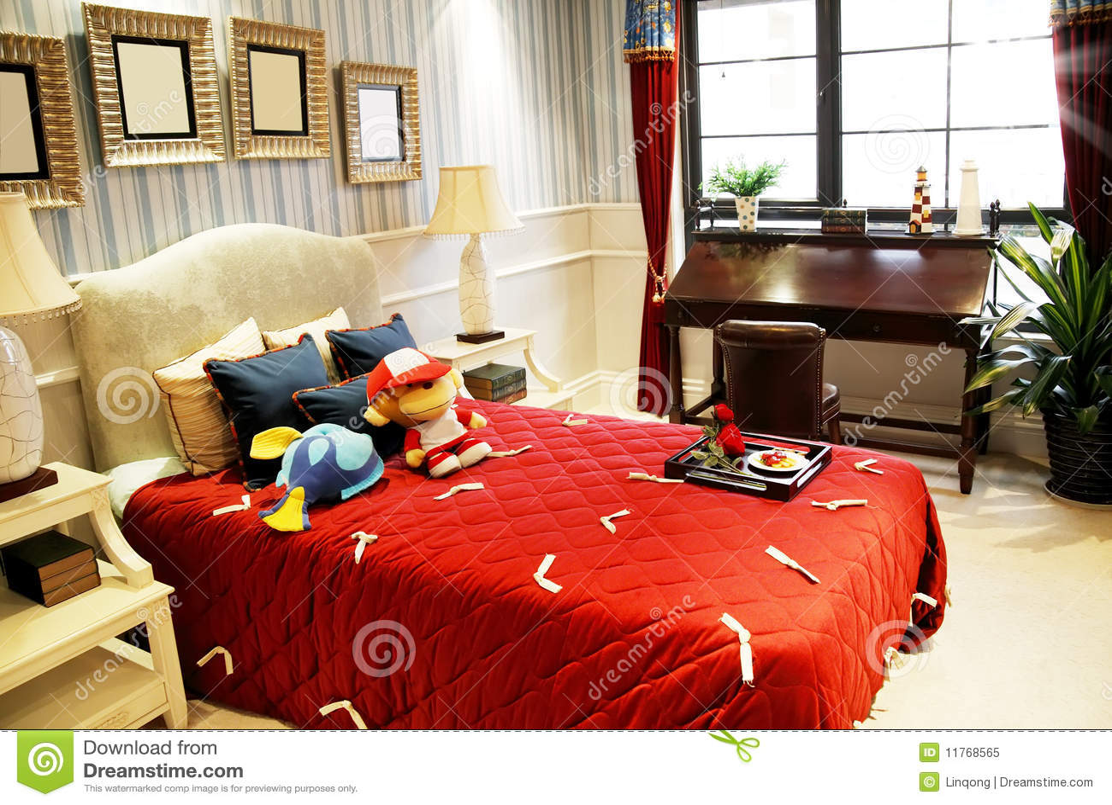 De slaapkamer van het meisje stock afbeelding afbeelding 11768565 - Slaapkamer van een meisje ...