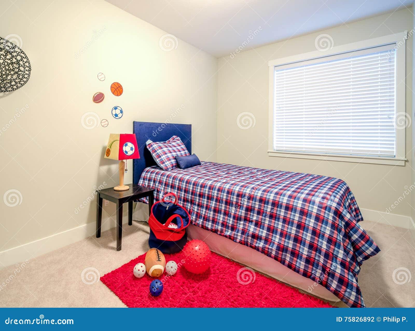De slaapkamer van jongens stock foto afbeelding bestaande uit