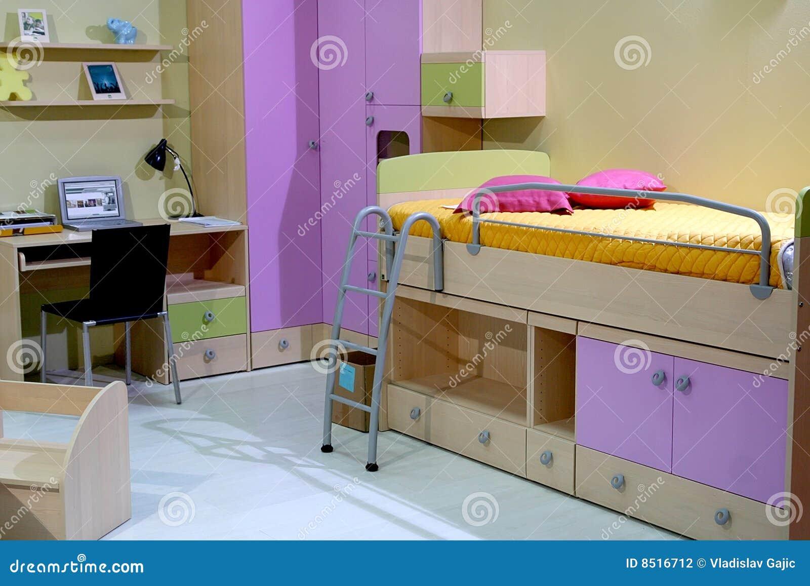 De slaapkamer van kinderen stock fotografie afbeelding 8516712 - Slaapkamer van een meisje ...