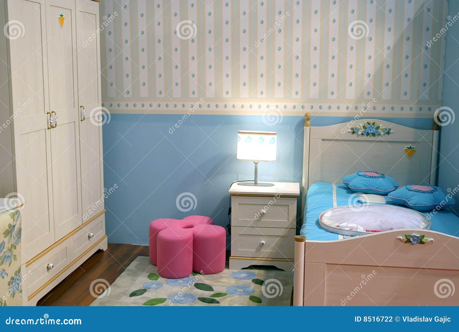 De slaapkamer van kinderen stock foto. Afbeelding bestaande uit hout ...