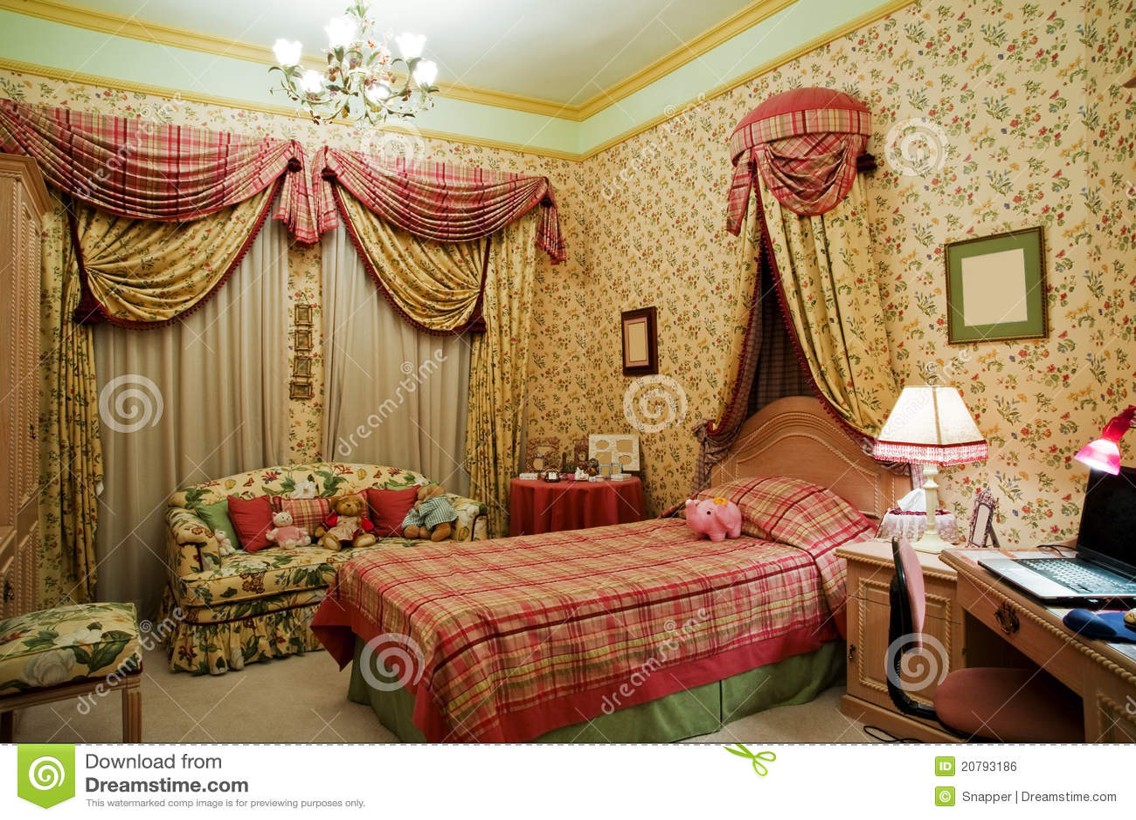 De slaapkamer van meisjes royalty vrije stock afbeelding afbeelding 20793186 - Meisjes slaapkamer deco ...