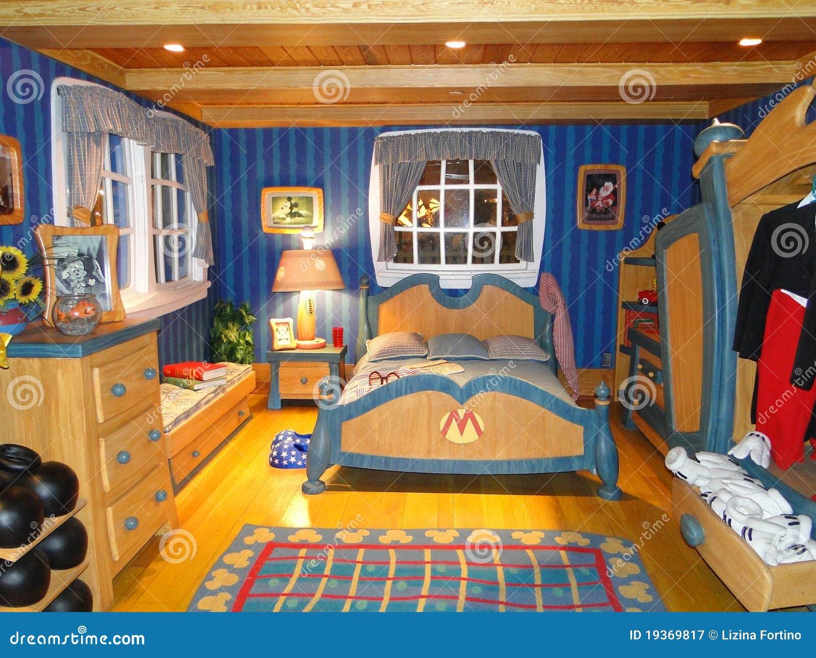Voorkeur De Slaapkamer Van Mickey In Disneyworld Redactionele Fotografie BX21