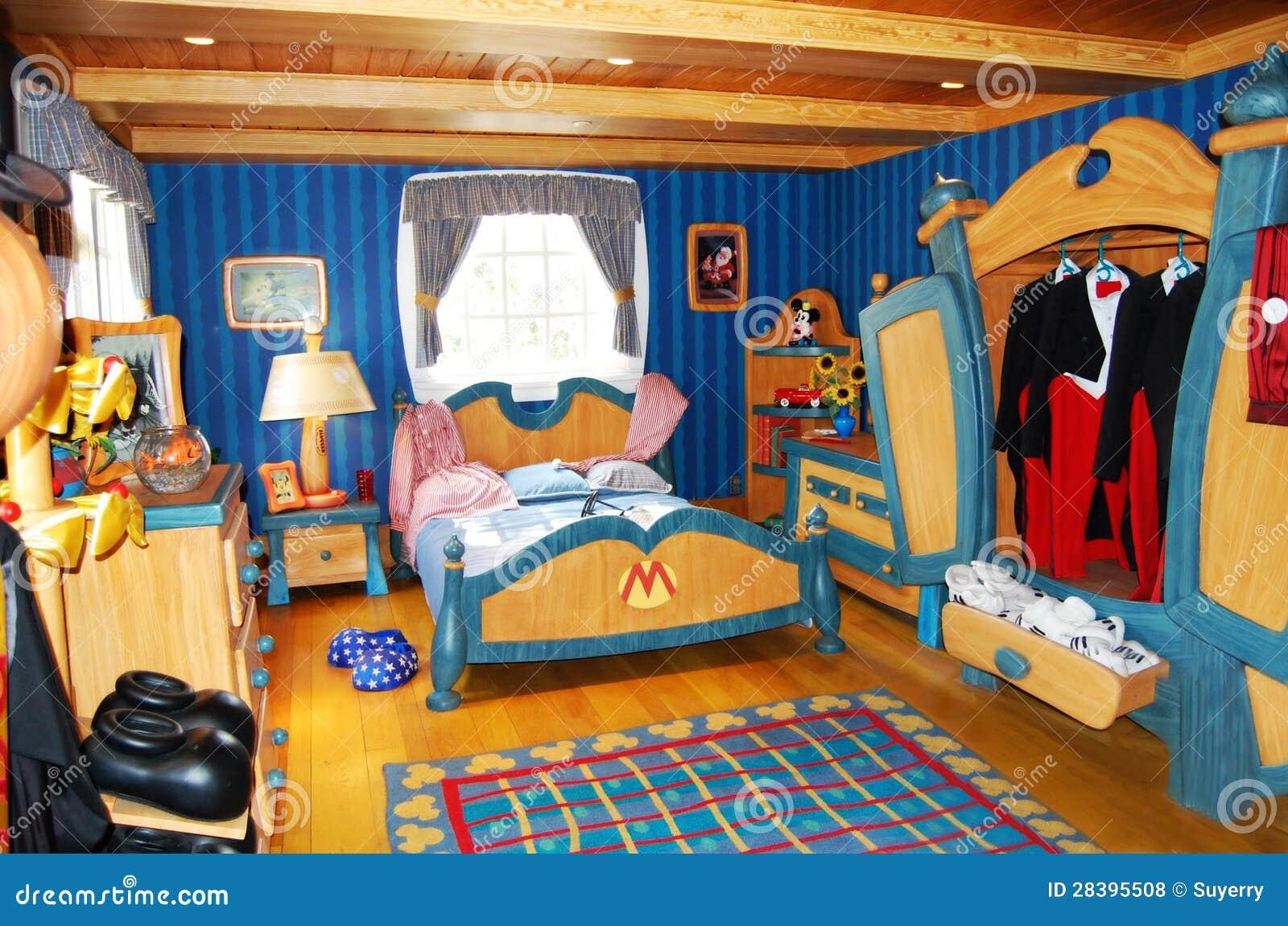 De Slaapkamer Van Mickey Mouse In Disneyworld Redactionele Stock ...