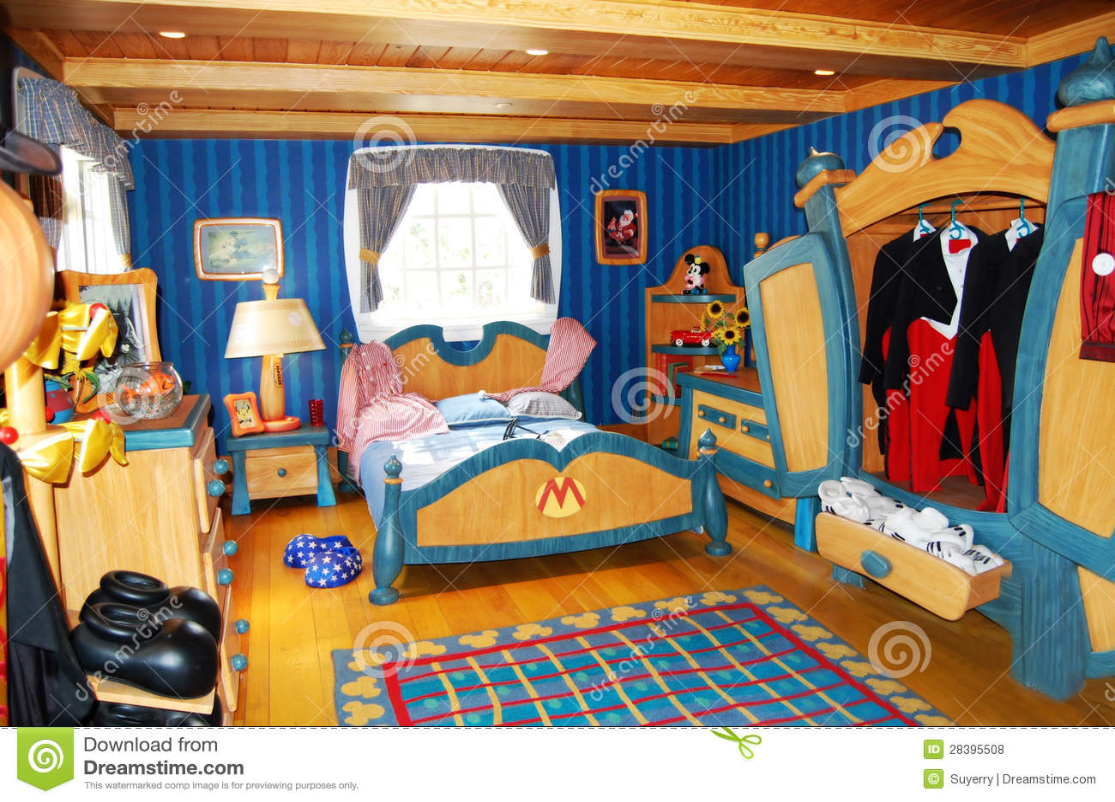 de slaapkamer van mickey mouse in disneyworld