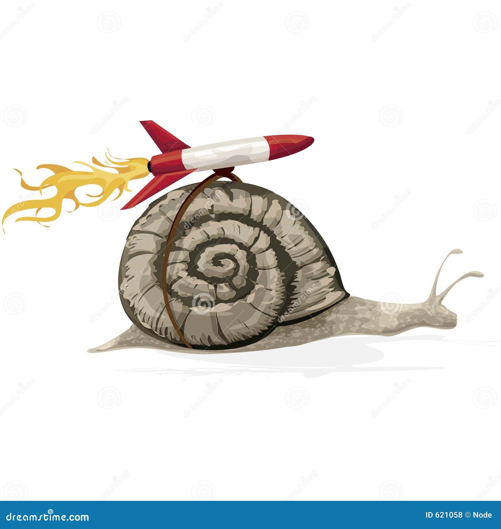 De Slak van de raket met het knippen van weg