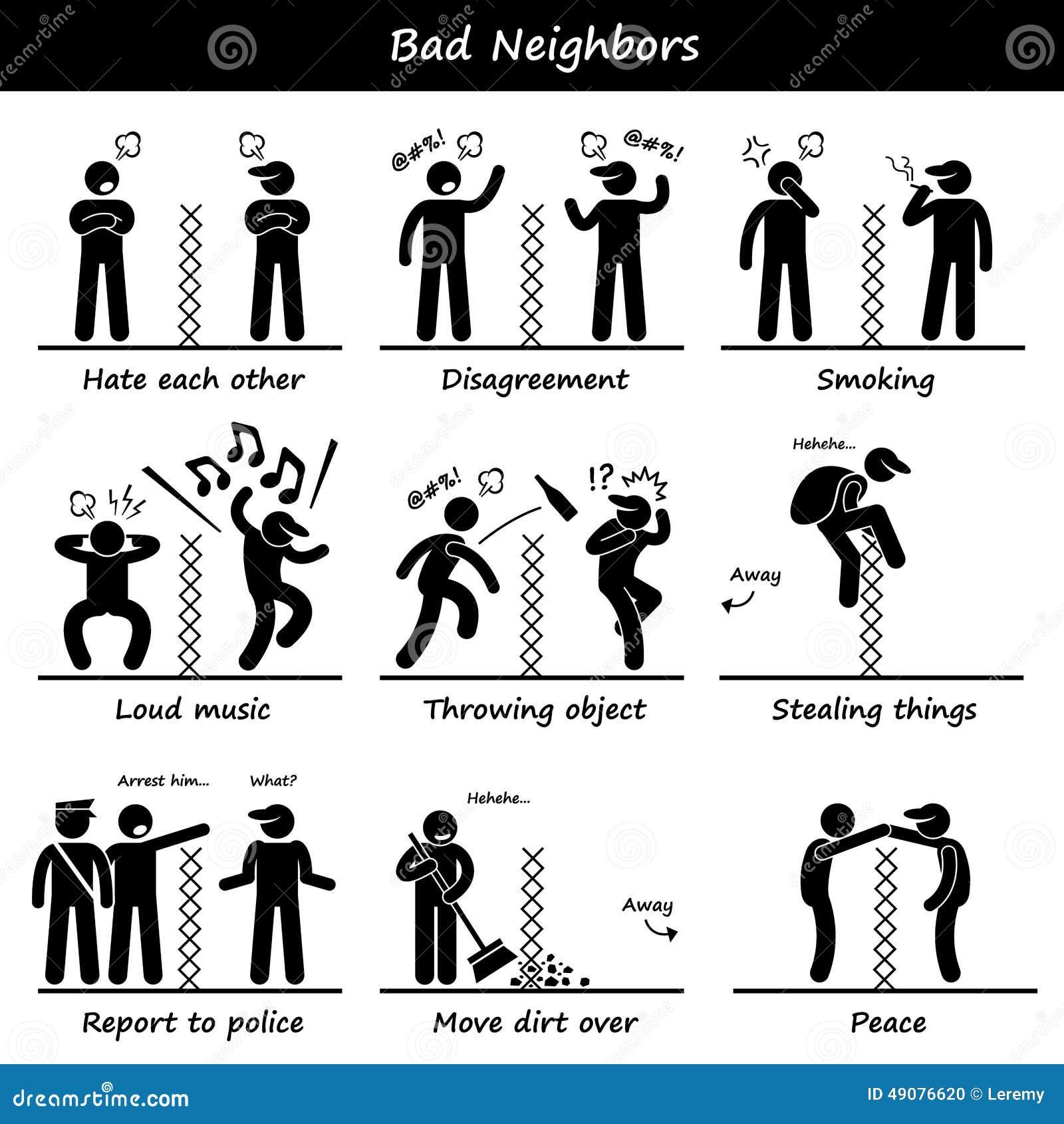 De slechte Buren plakken de Pictogrammen van het Cijferpictogram