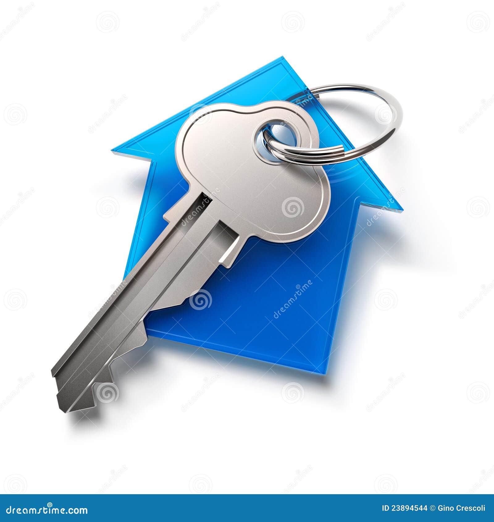 De sleutel van het huis stock illustratie afbeelding bestaande uit render 23894544 - Ingang van het hedendaagse huis ...