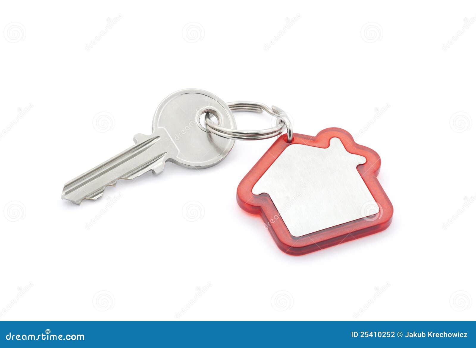 De sleutel van het huis met het knippen van weg