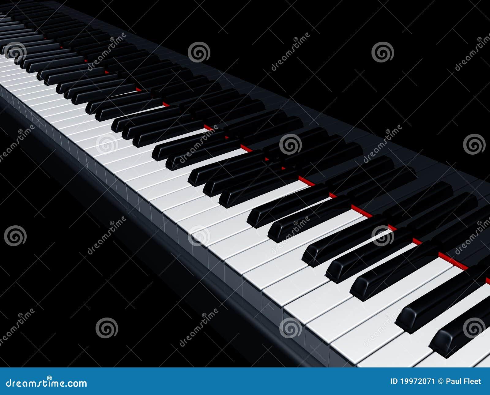 De sleutels van de piano