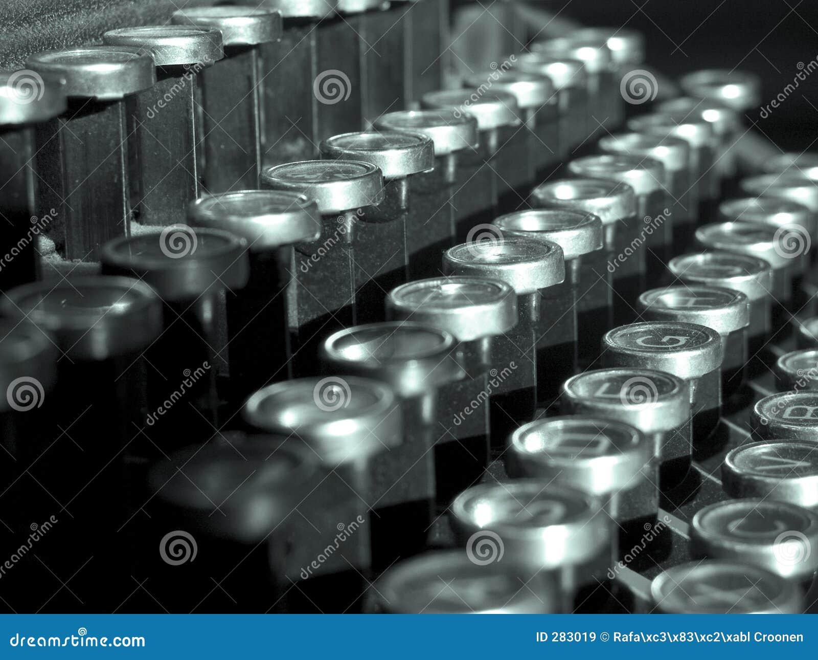 De sleutels van de schrijfmachine