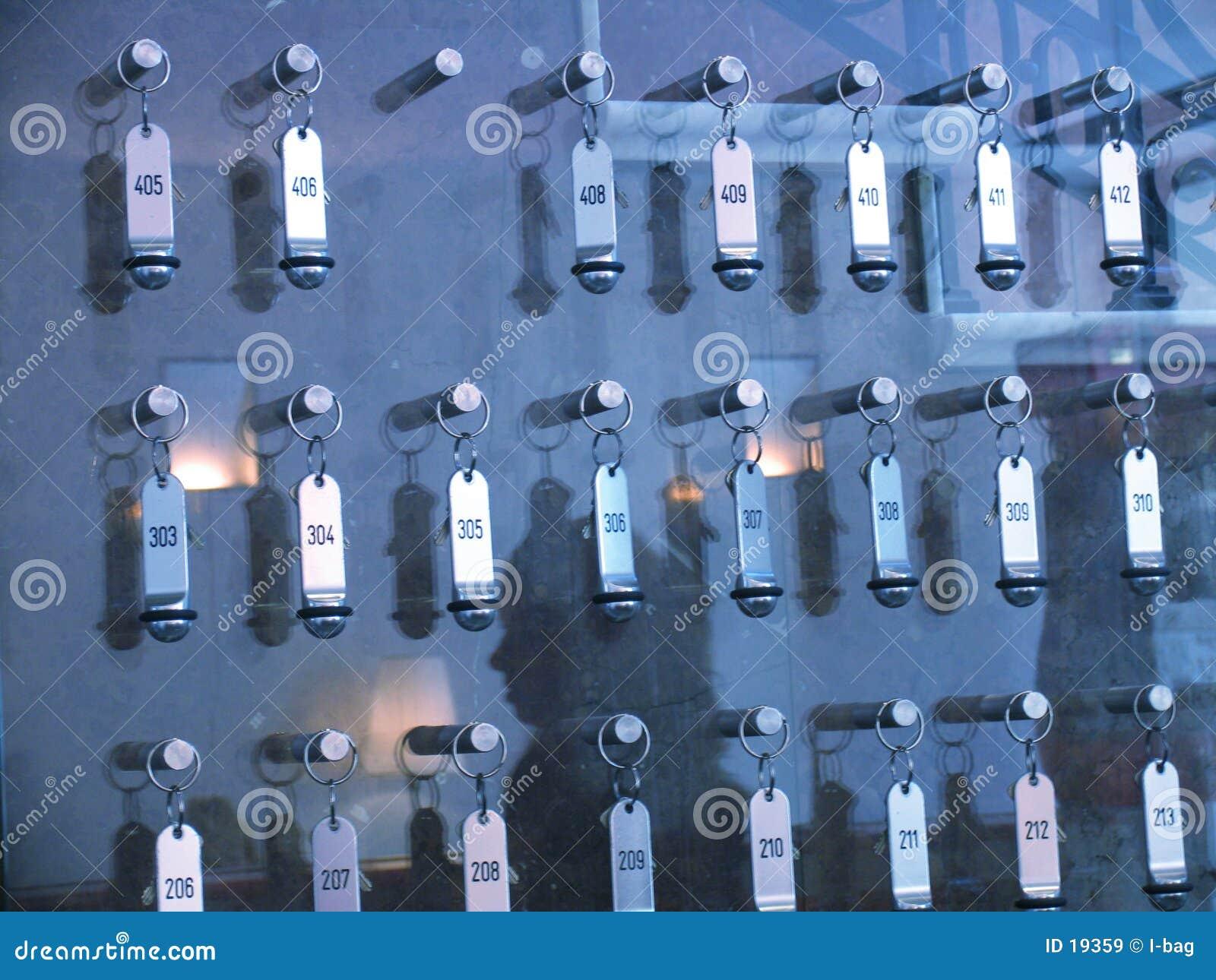 De sleutelsraad van het hotel