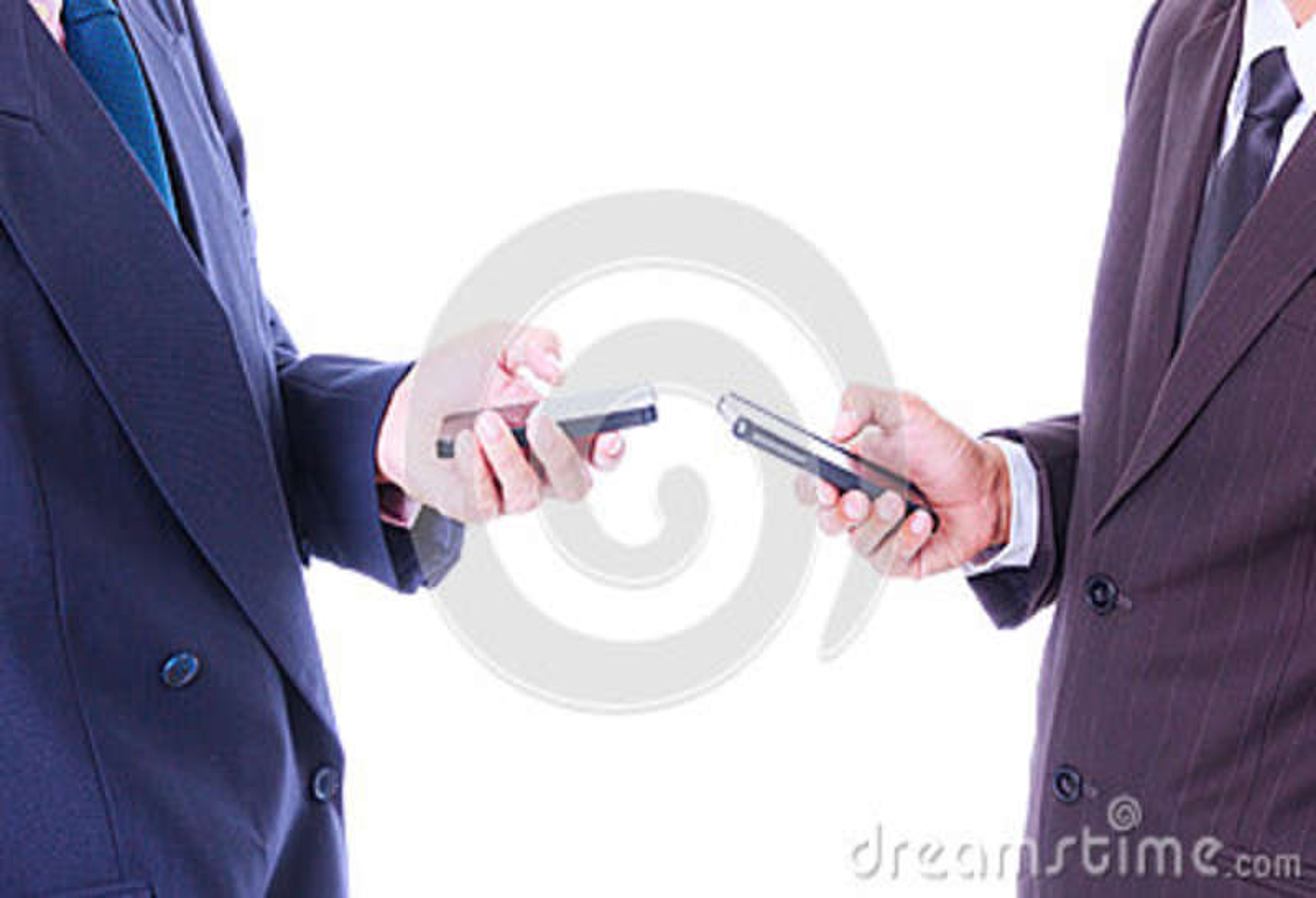 De slimme telefoon van de bedrijfsmensensynchronisatie