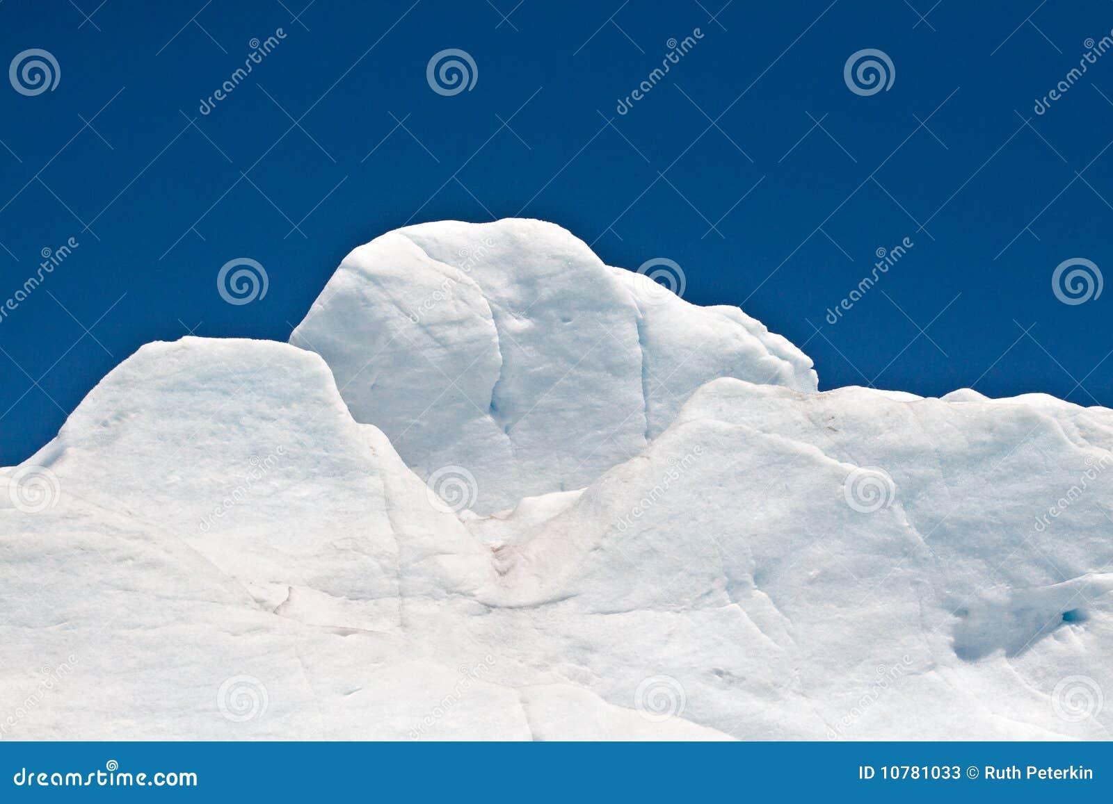 De Sneeuw van de gletsjer