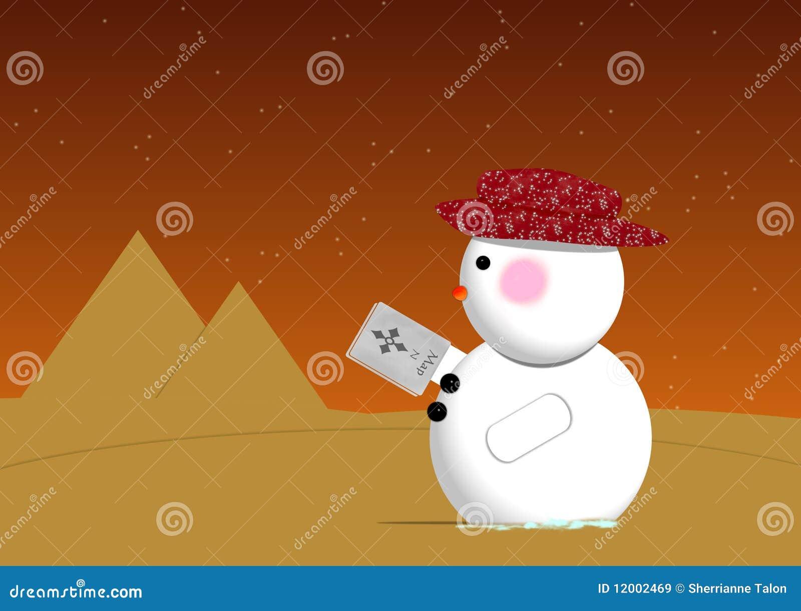 De Sneeuwman van de woestijn