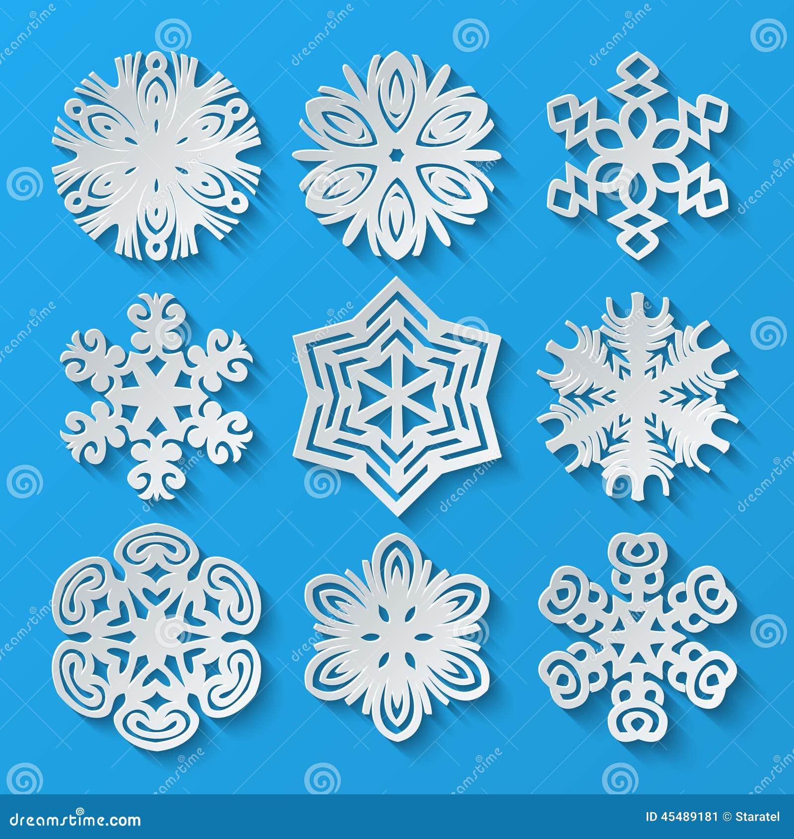 De Sneeuwvlokken van het document Reeks 2