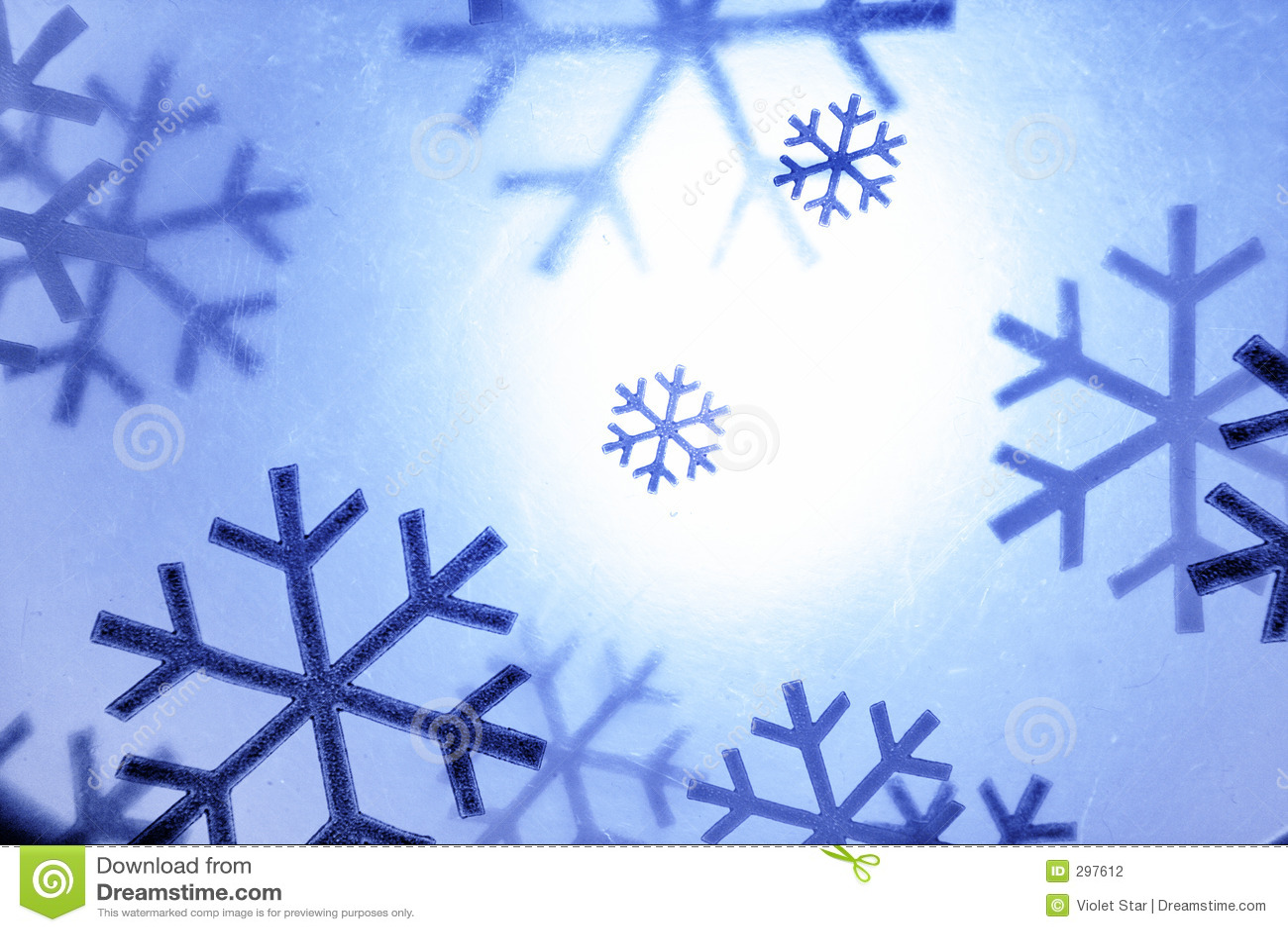 De sneeuwvlokken van Kerstmis