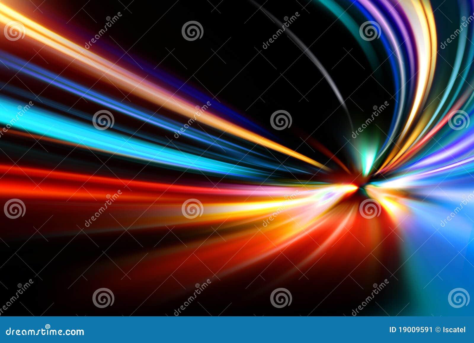 De snelheidsmotie van de versnelling op nachtweg