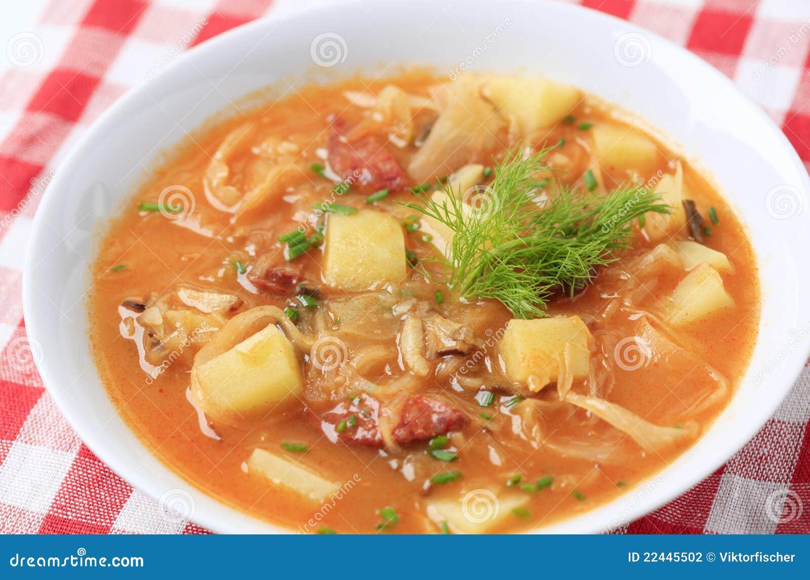 De soep van de kool